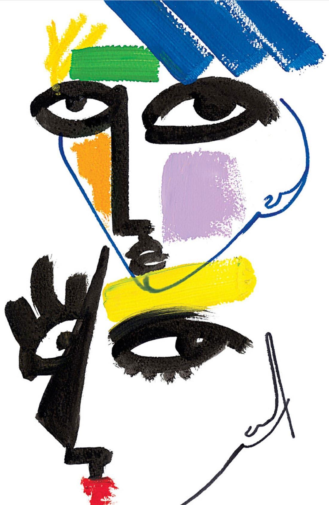 M·A·C 'Illustrated - Red x3' Lip Color & Bag by Julie Verhoeven,                             Alternate thumbnail 2, color,                             000