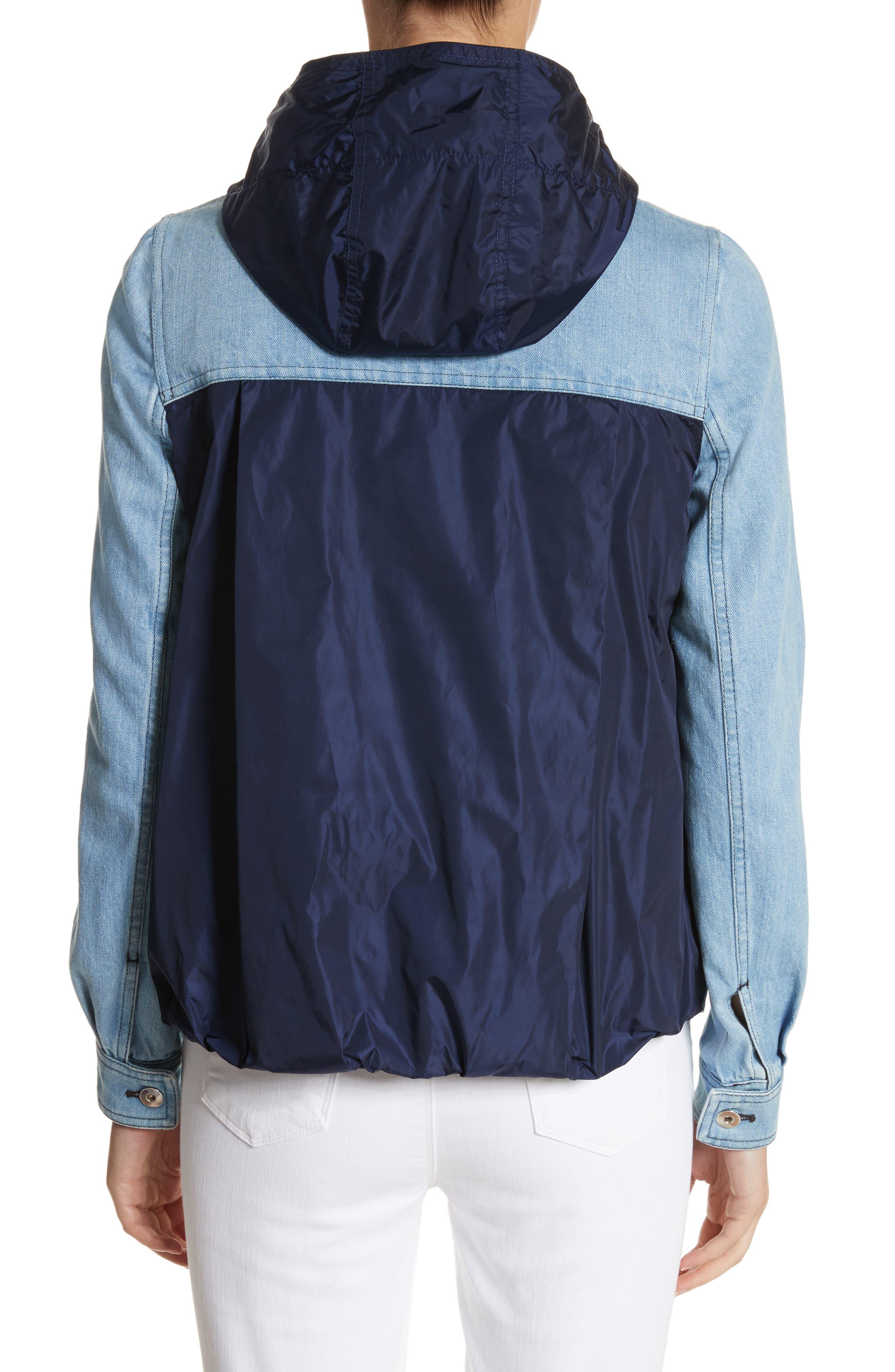 Hooded Denim Jacket,                             Alternate thumbnail 2, color,                             431
