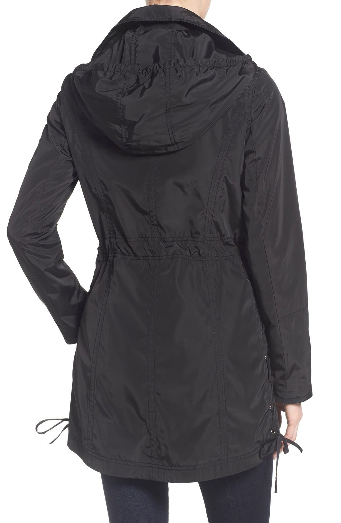 Windbreaker with Lace-Up Sides,                             Alternate thumbnail 2, color,                             001