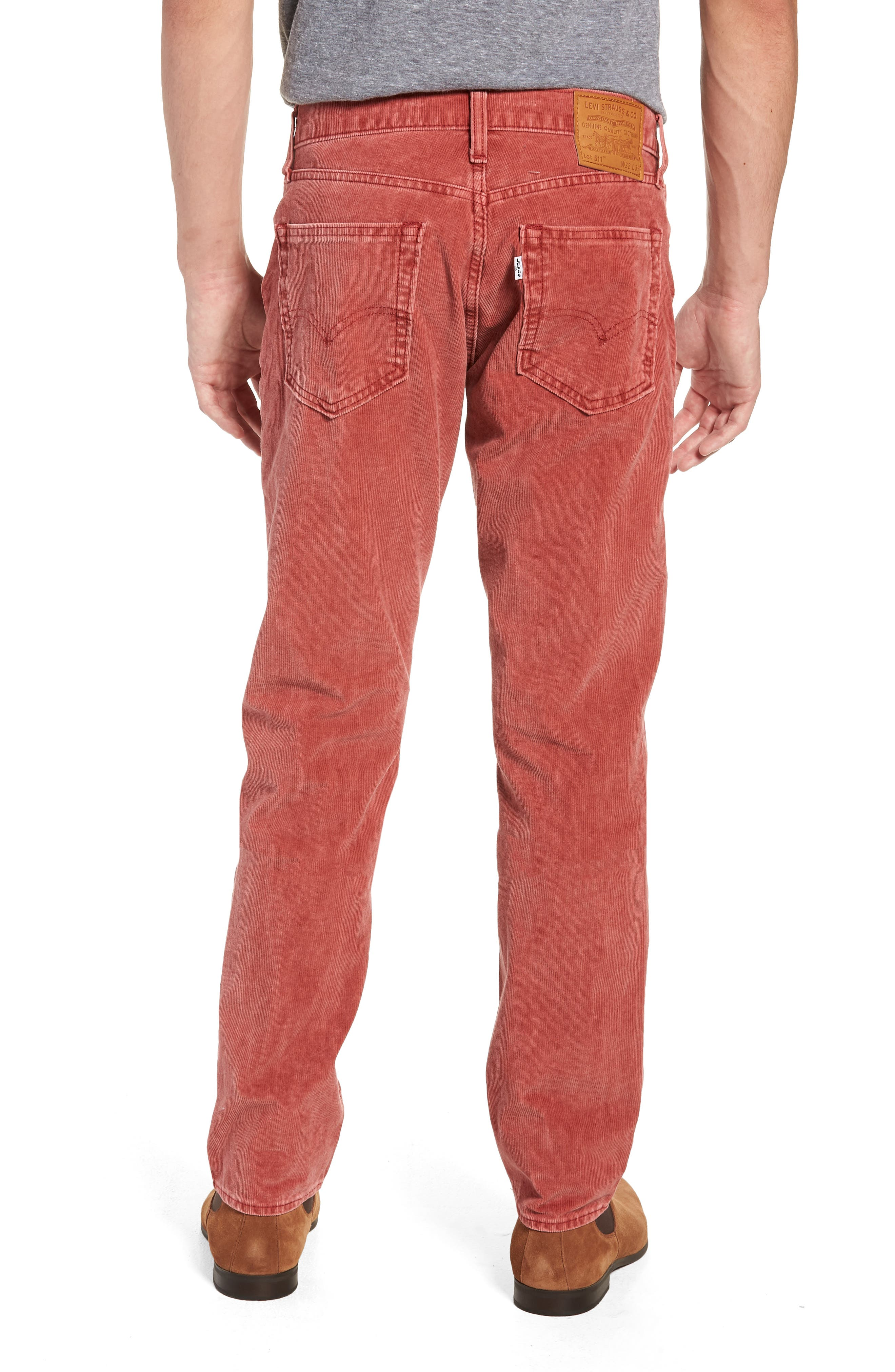 511<sup>™</sup> Slim Fit Corduroy Pants,                             Alternate thumbnail 2, color,                             RALLY RED
