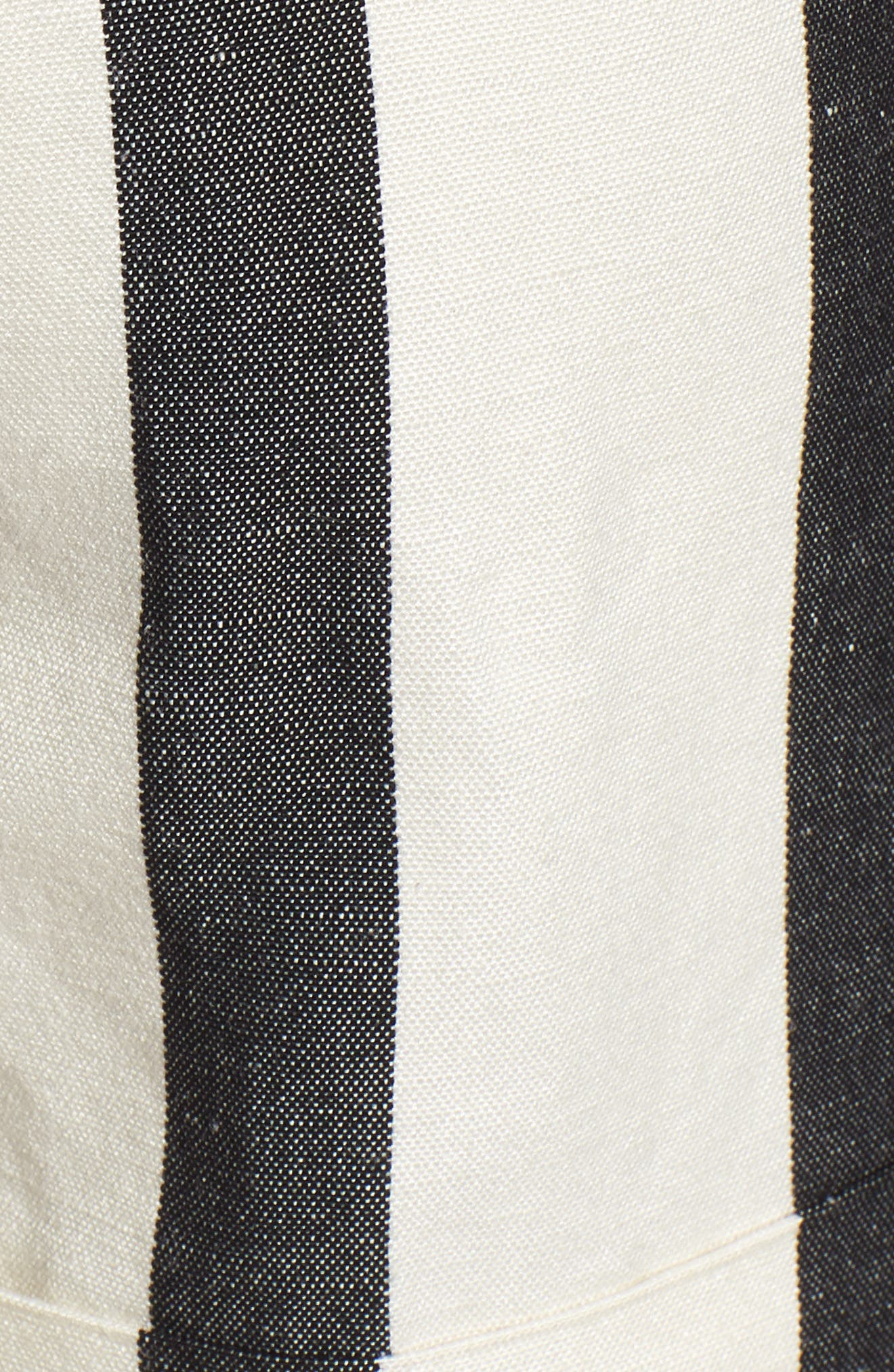 TROUVÉ,                             Stripe Cuff Shorts,                             Alternate thumbnail 5, color,                             101