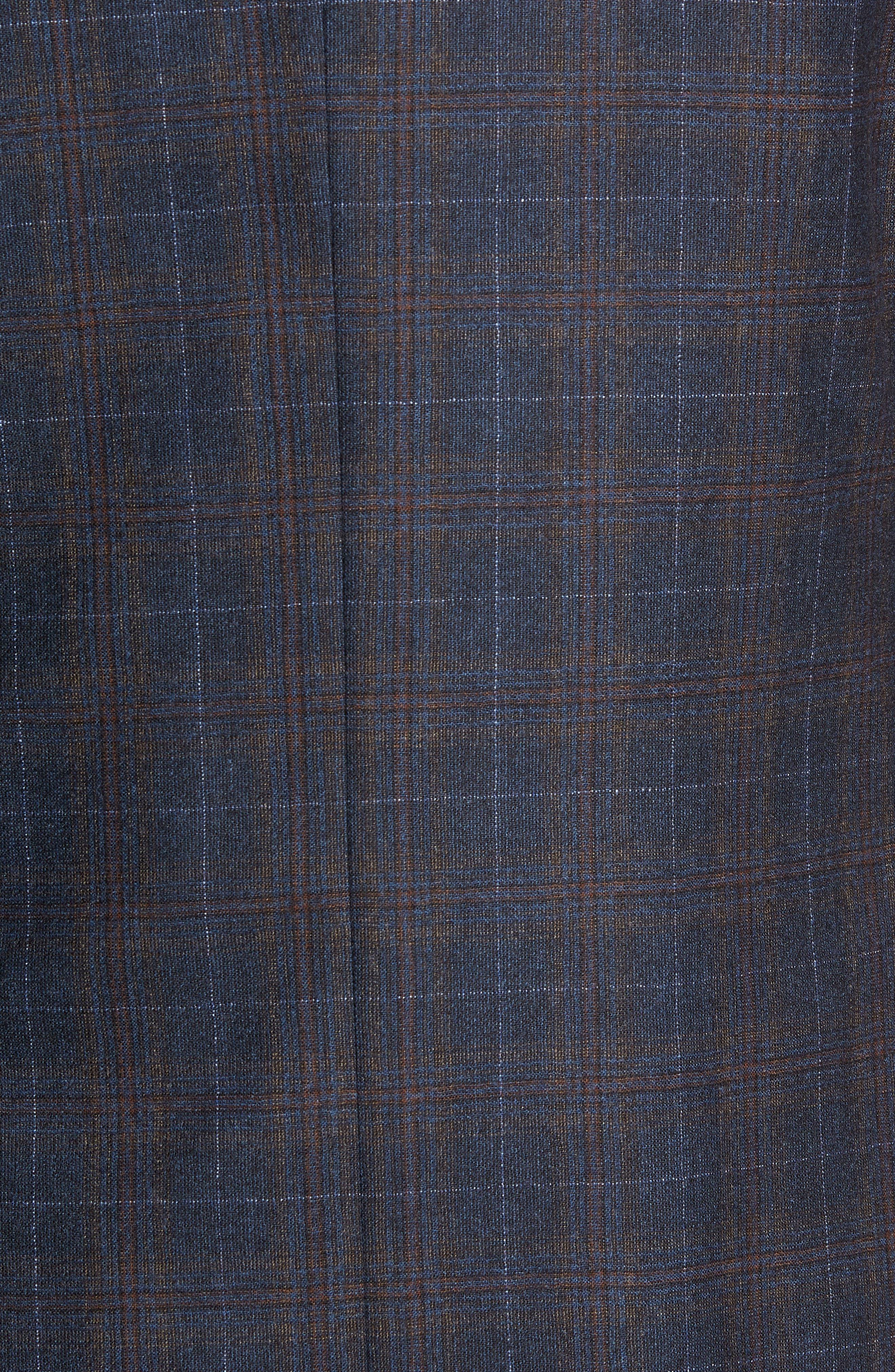 Jay 2B Trim Fit Plaid Wool Sport Coat,                             Alternate thumbnail 6, color,                             BLUE PLAID