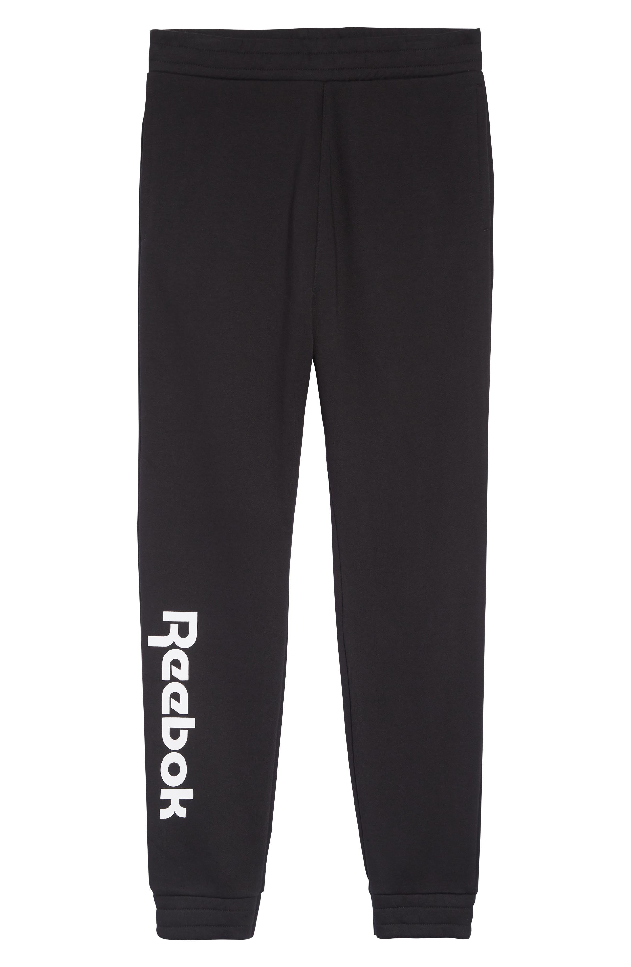 REEBOK,                             Vector Logo Sweatpants,                             Alternate thumbnail 6, color,                             BLACK