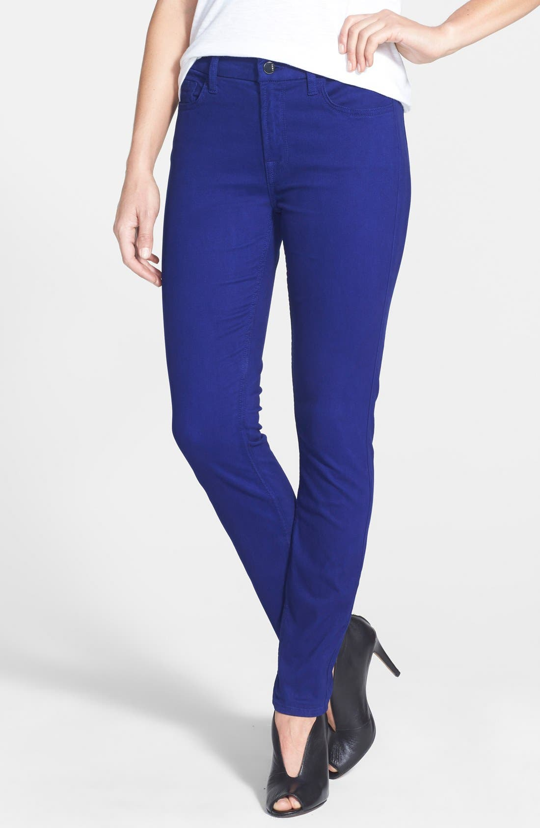 Colored Stretch Denim Skinny Jeans,                             Main thumbnail 8, color,