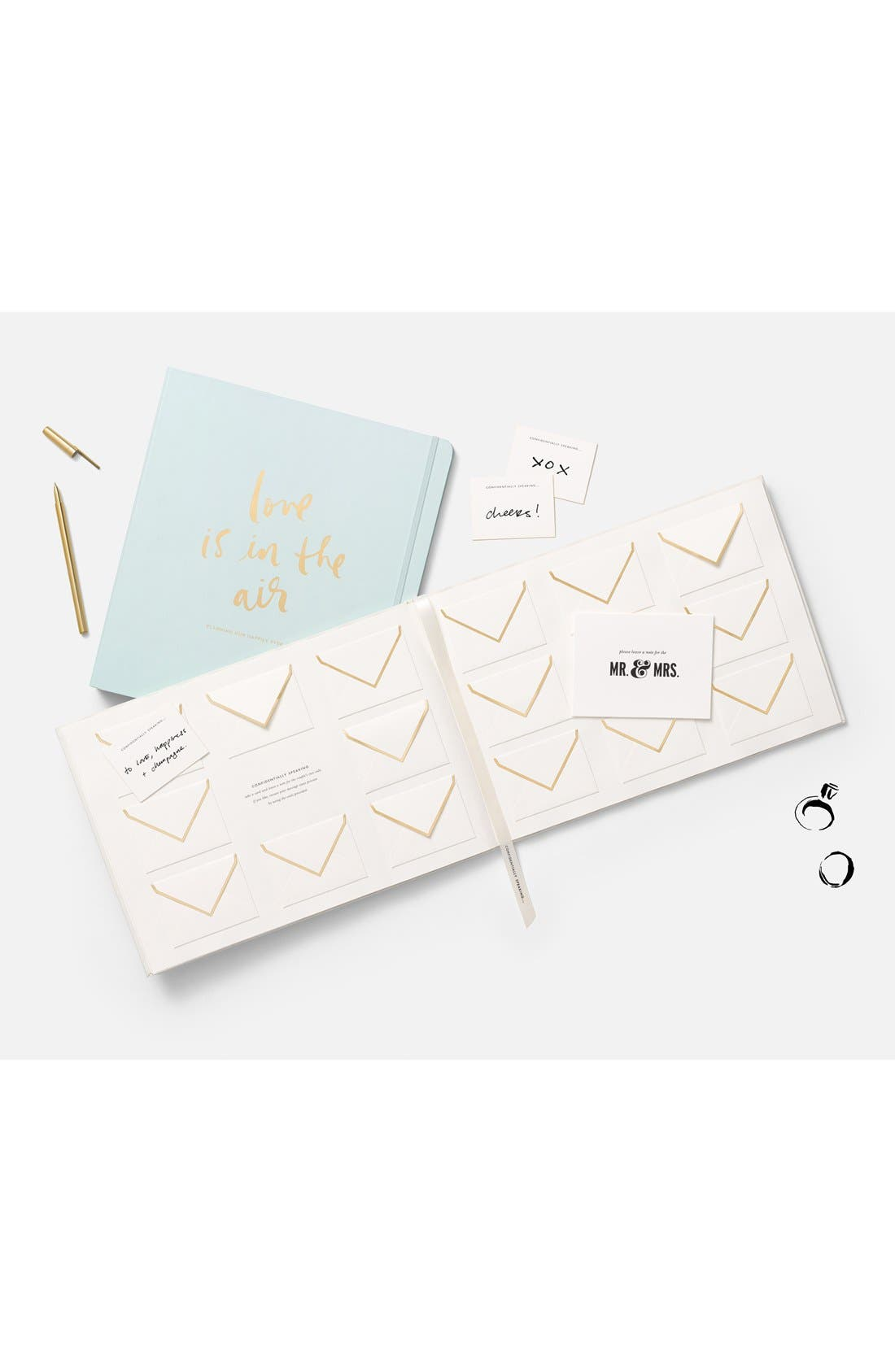 KATE SPADE NEW YORK,                             'notes to the bride & groom' guest book,                             Alternate thumbnail 2, color,                             100
