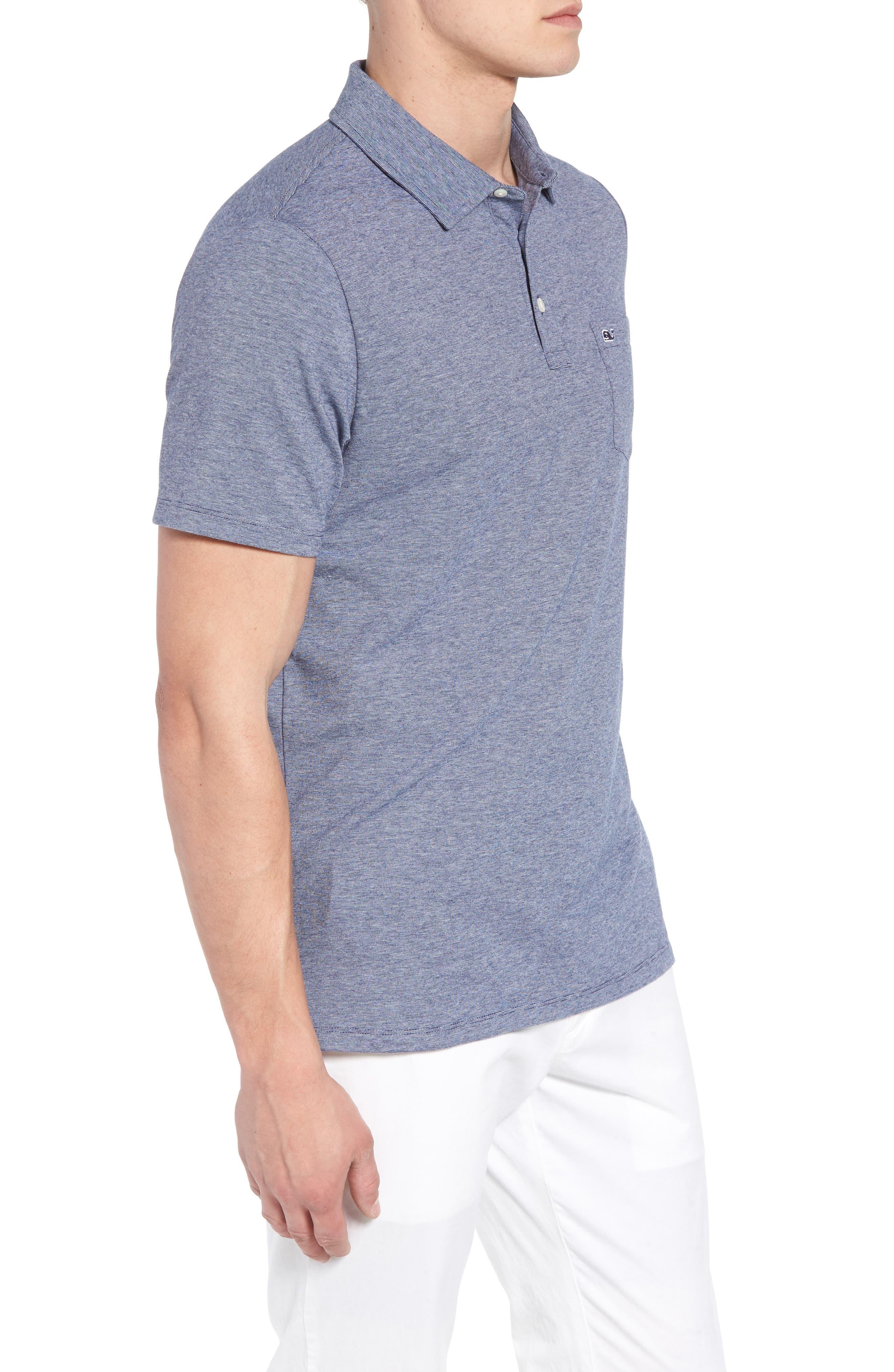 VINEYARD VINES,                             Edgartown Polo Shirt,                             Alternate thumbnail 3, color,                             DEEP BAY