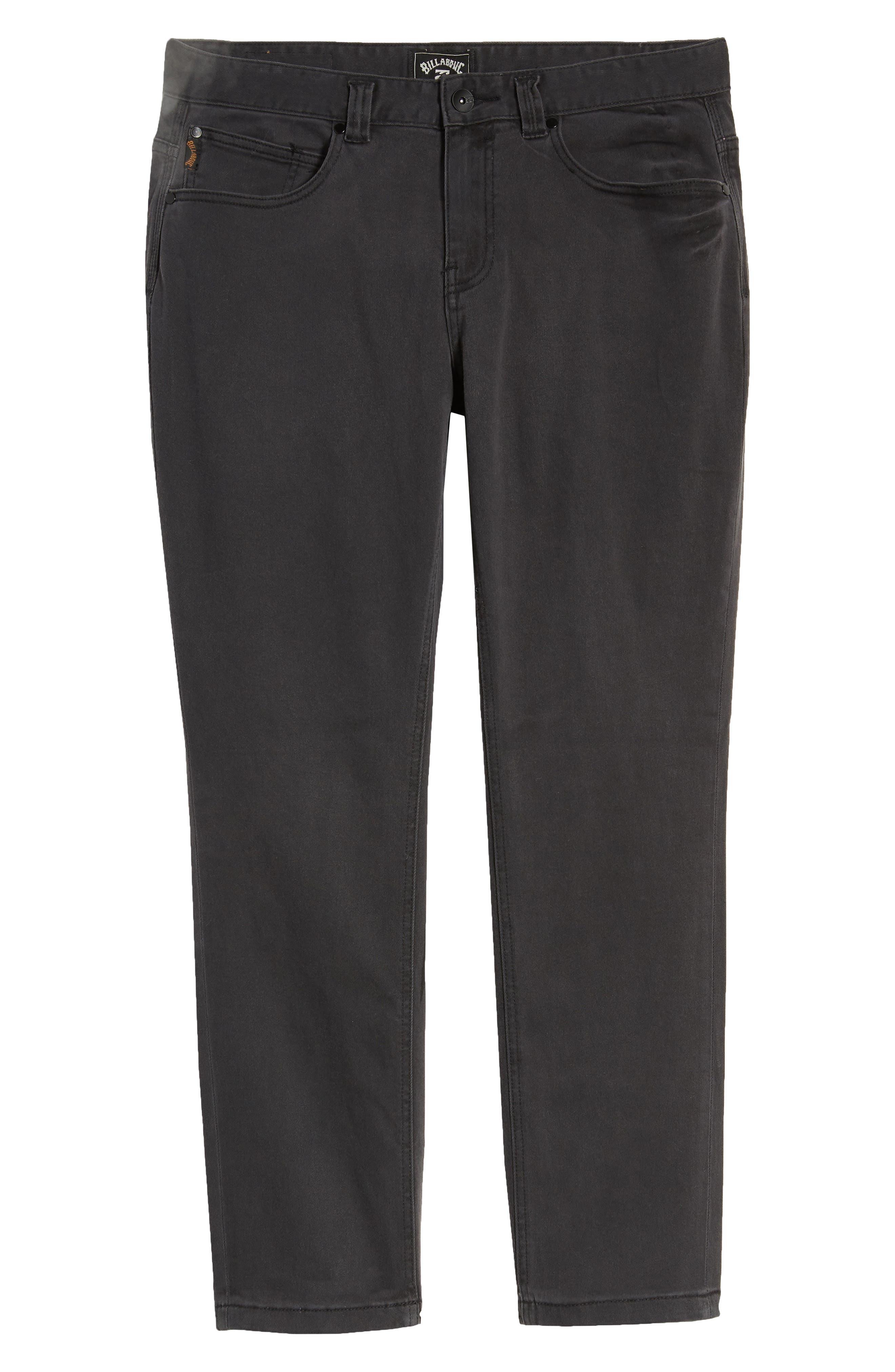 Outsider Slim Straight Jeans,                             Alternate thumbnail 3, color,                             OIL SPILL