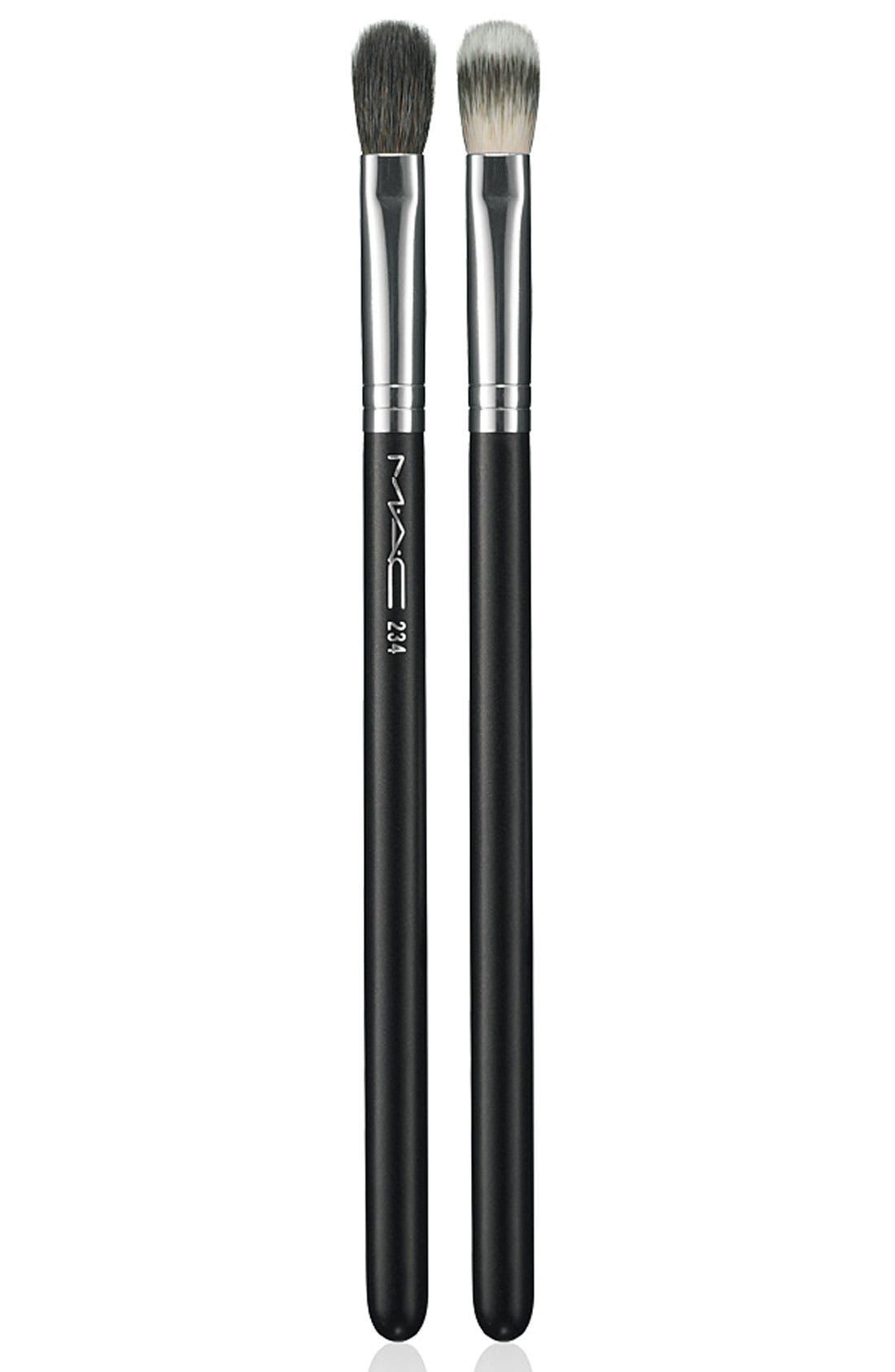 M·A·C 234 Split Fibre Eye Blending Brush,                             Main thumbnail 1, color,                             000