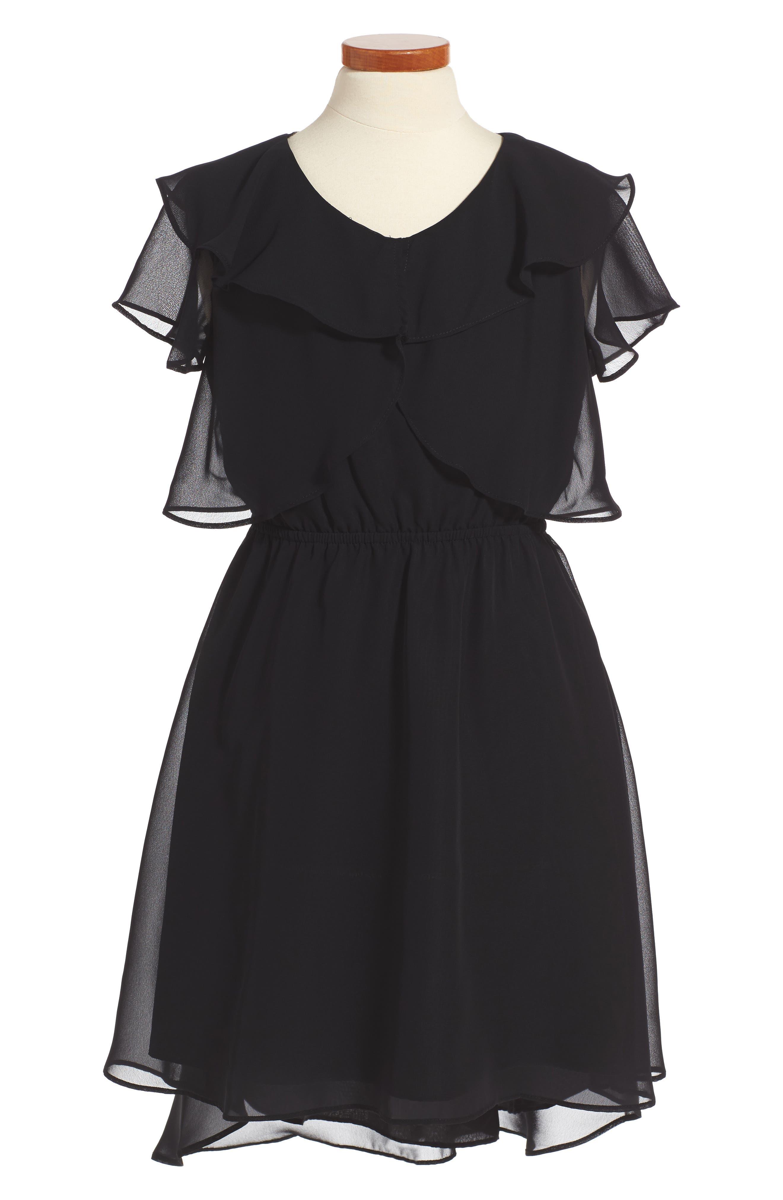 Ruffle Dress,                             Main thumbnail 1, color,                             001