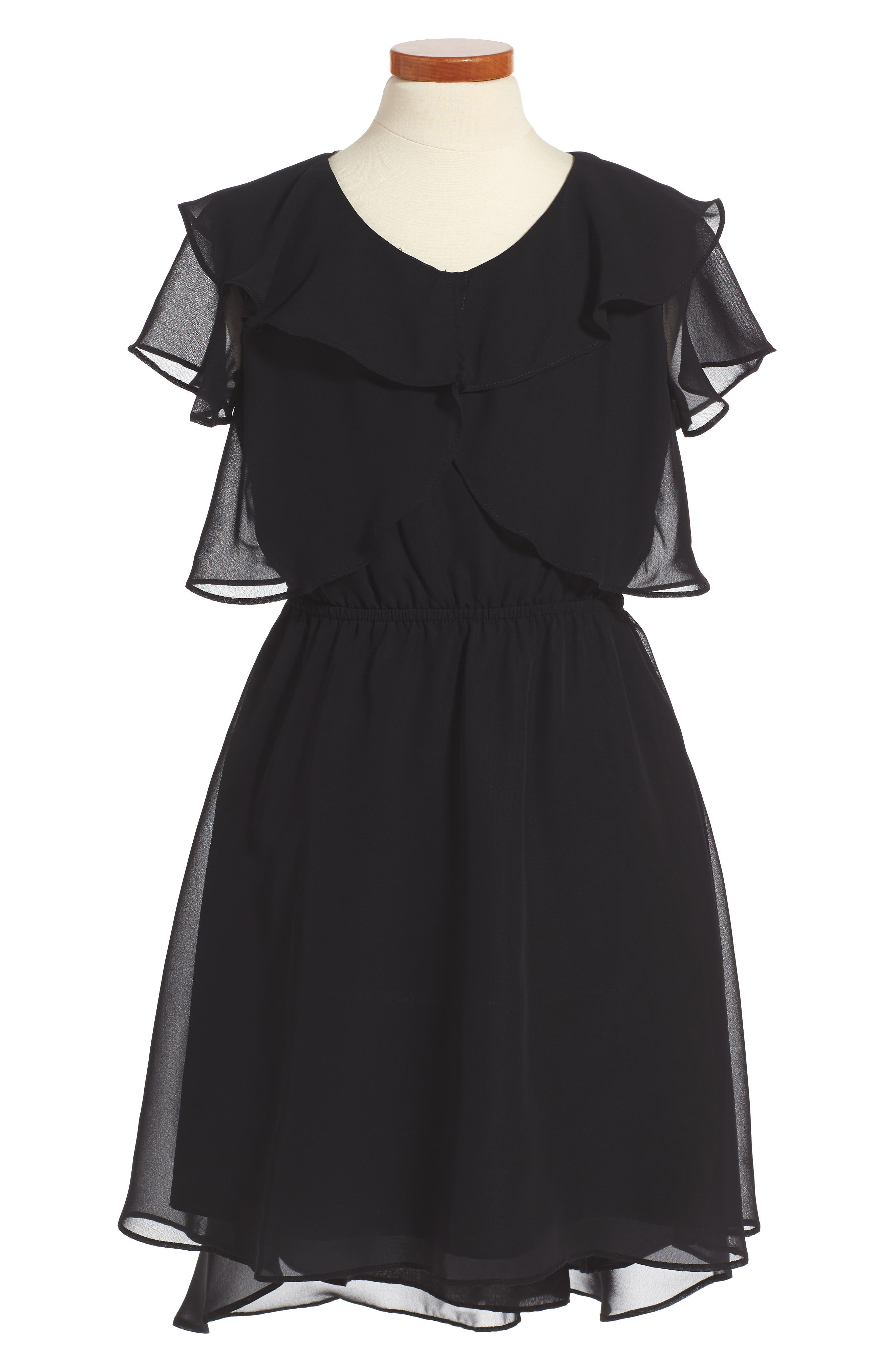 Ruffle Dress,                         Main,                         color, 001