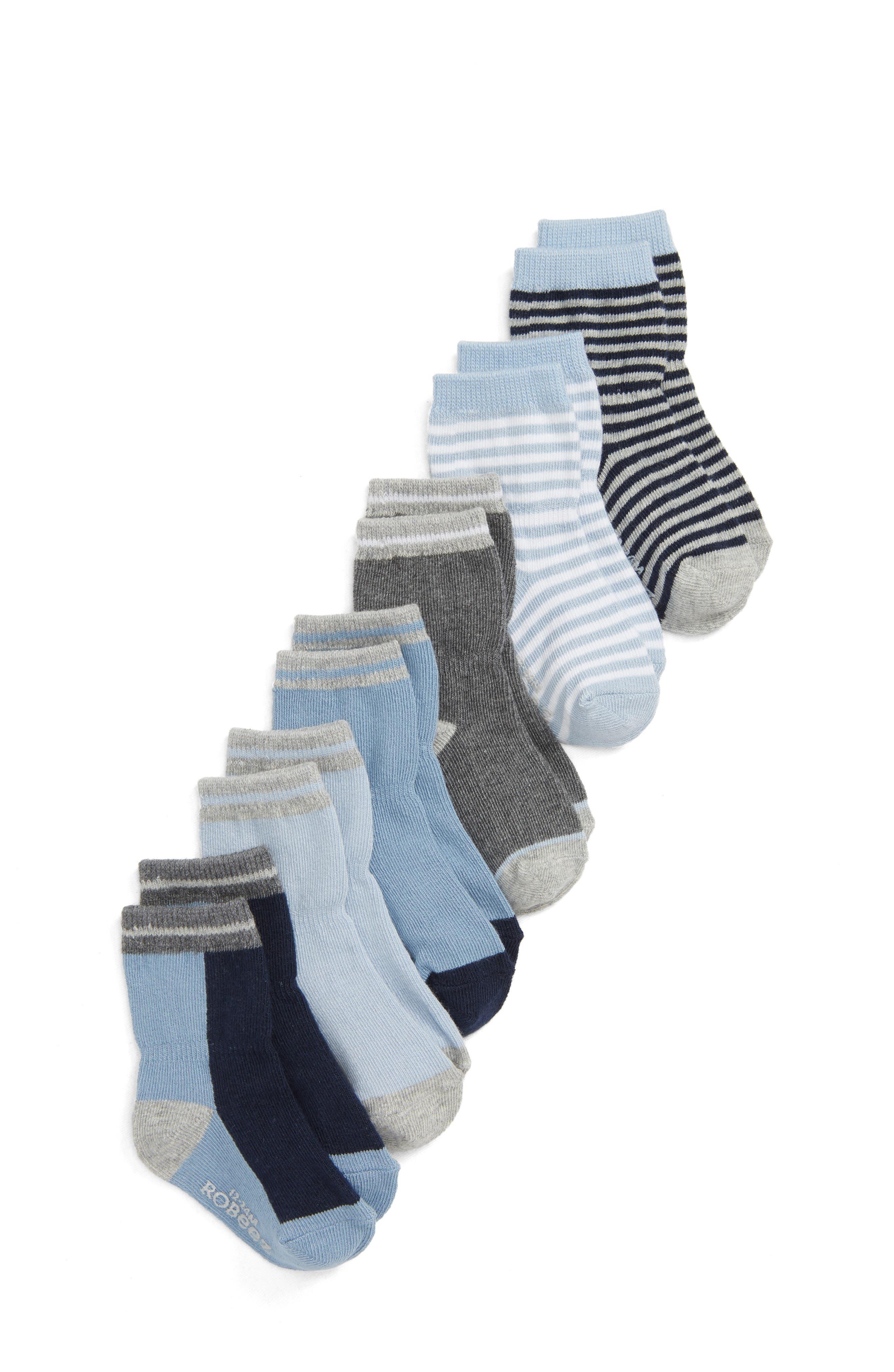 Benjamin Blue 6-Pack Socks,                             Main thumbnail 1, color,                             BLUE