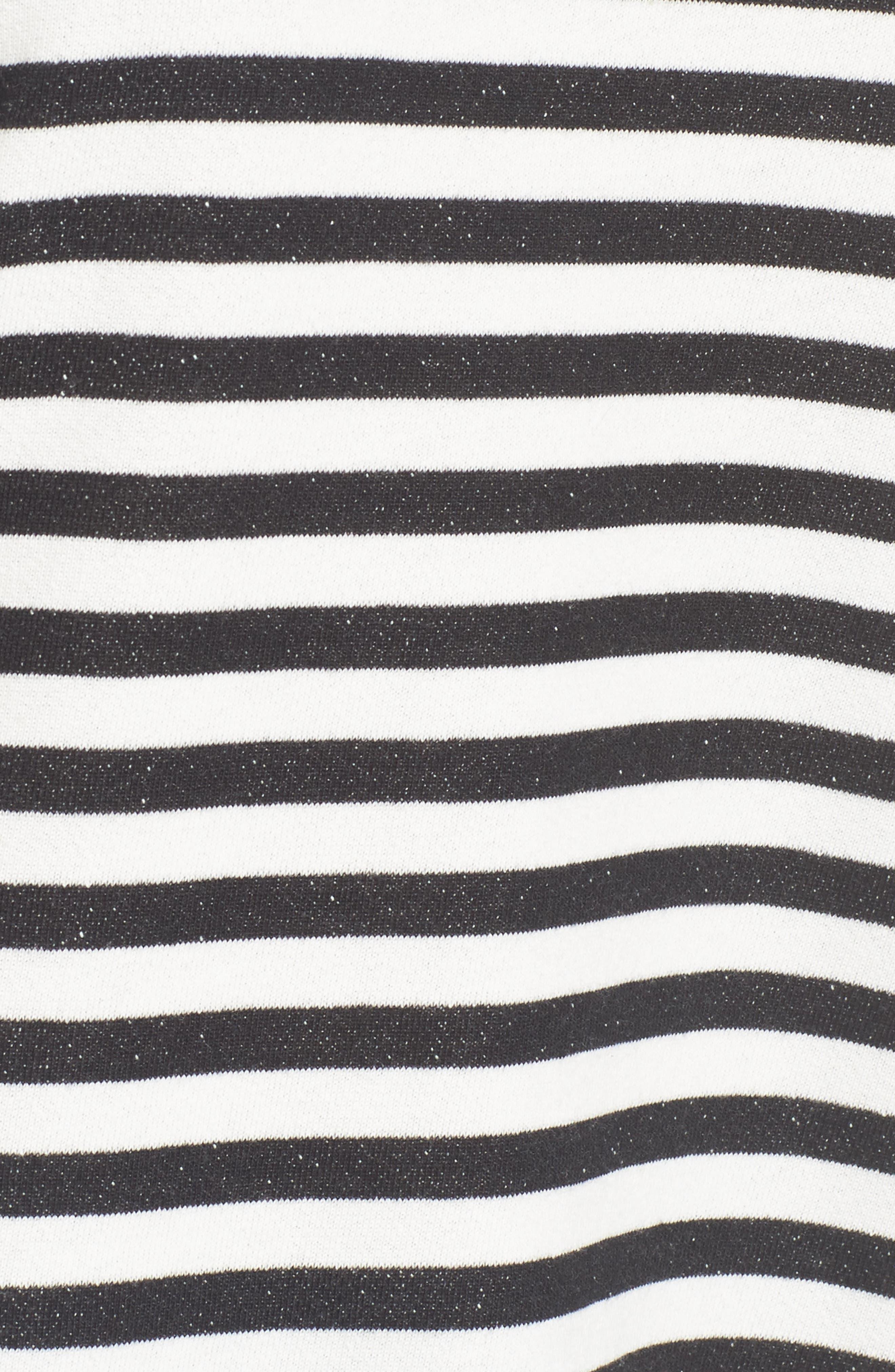 Halogen High/Low Cross Back Sweatshirt,                             Alternate thumbnail 5, color,                             001