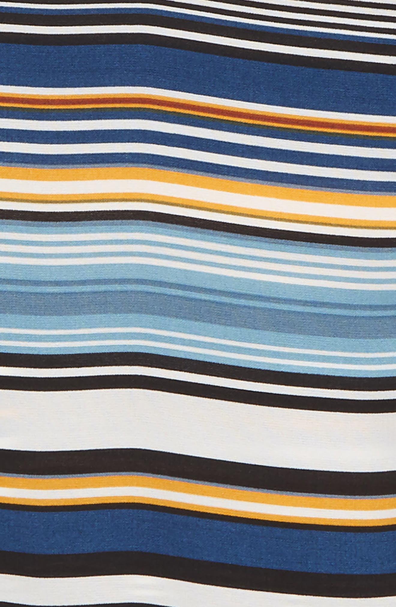 Stripe Ruffle Shirt,                             Alternate thumbnail 2, color,                             STRIPE