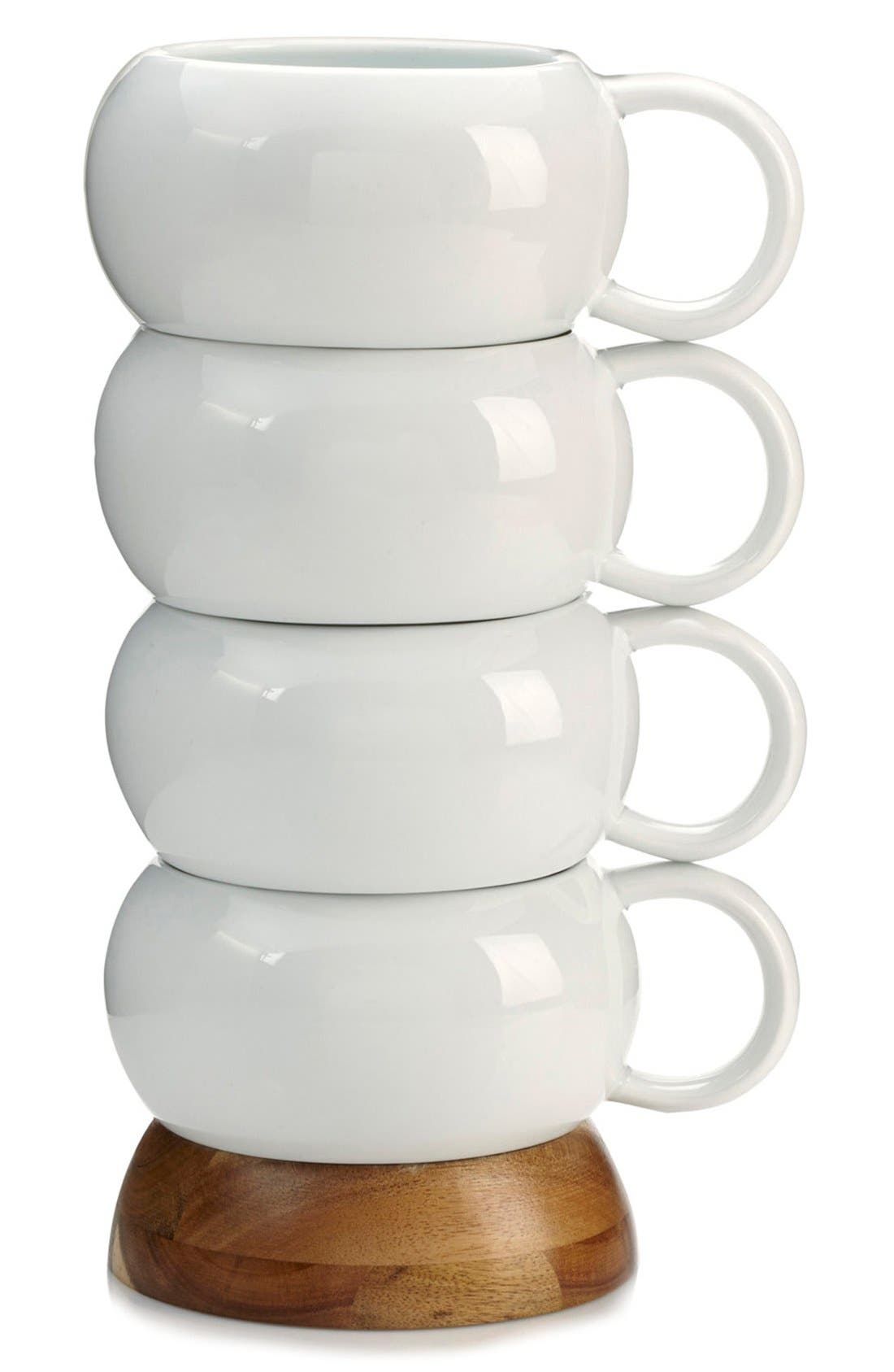Bulbo Set of 4 Stacked Coffee Mugs,                             Alternate thumbnail 2, color,