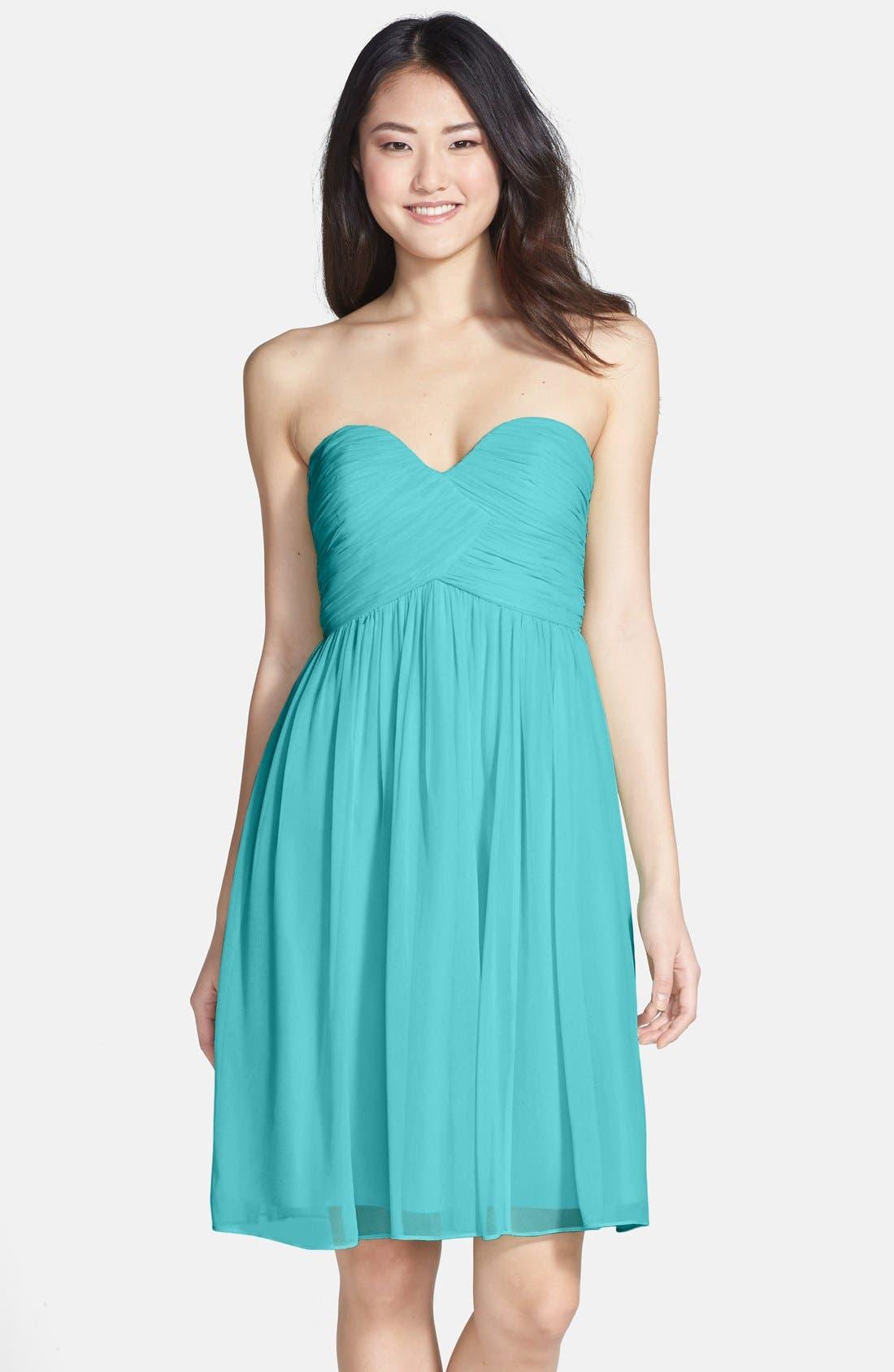 'Morgan' Strapless Silk Chiffon Dress,                             Alternate thumbnail 136, color,