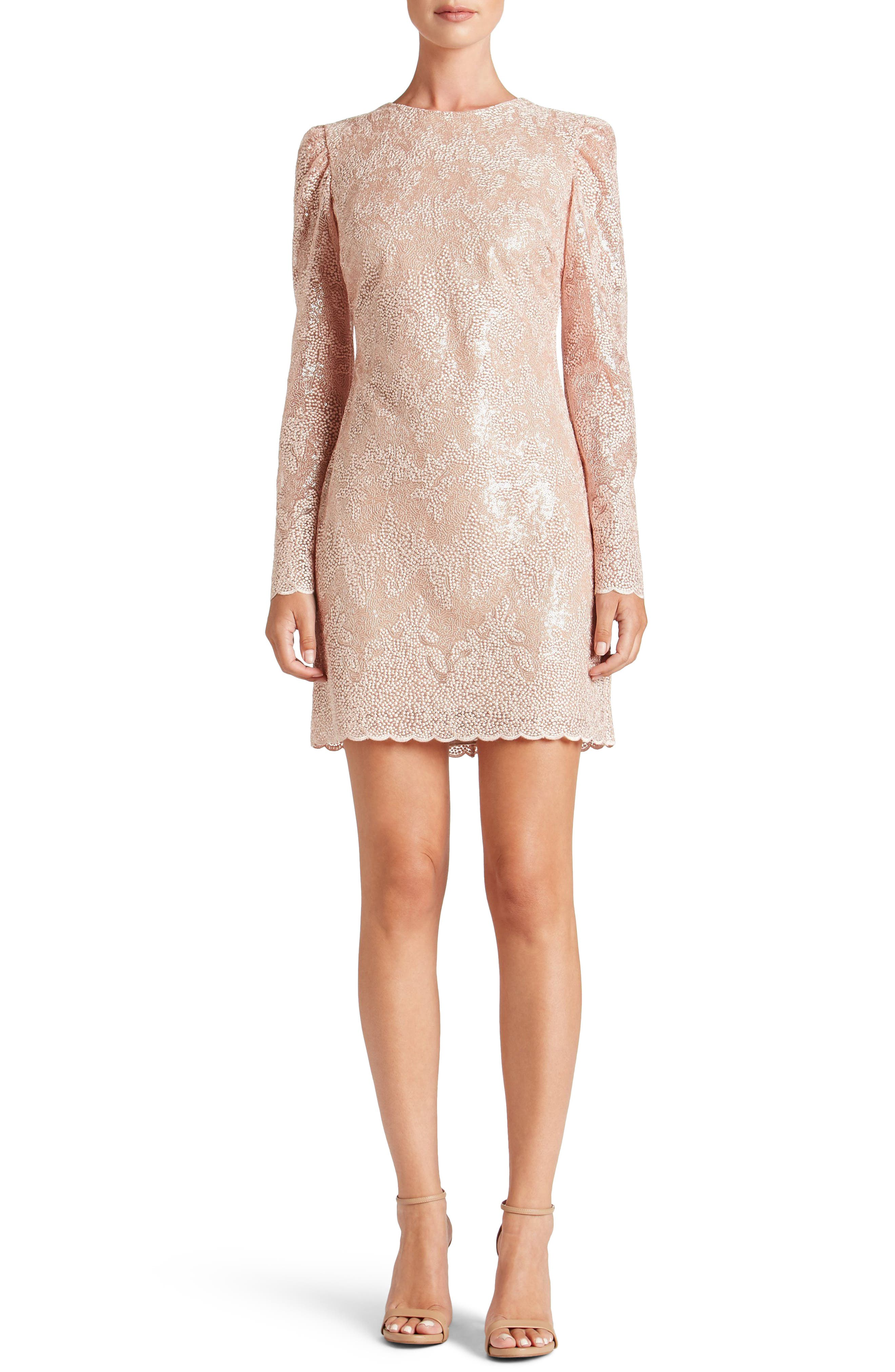 Aubry Sequin Embellished Shift Dress,                             Alternate thumbnail 5, color,                             686