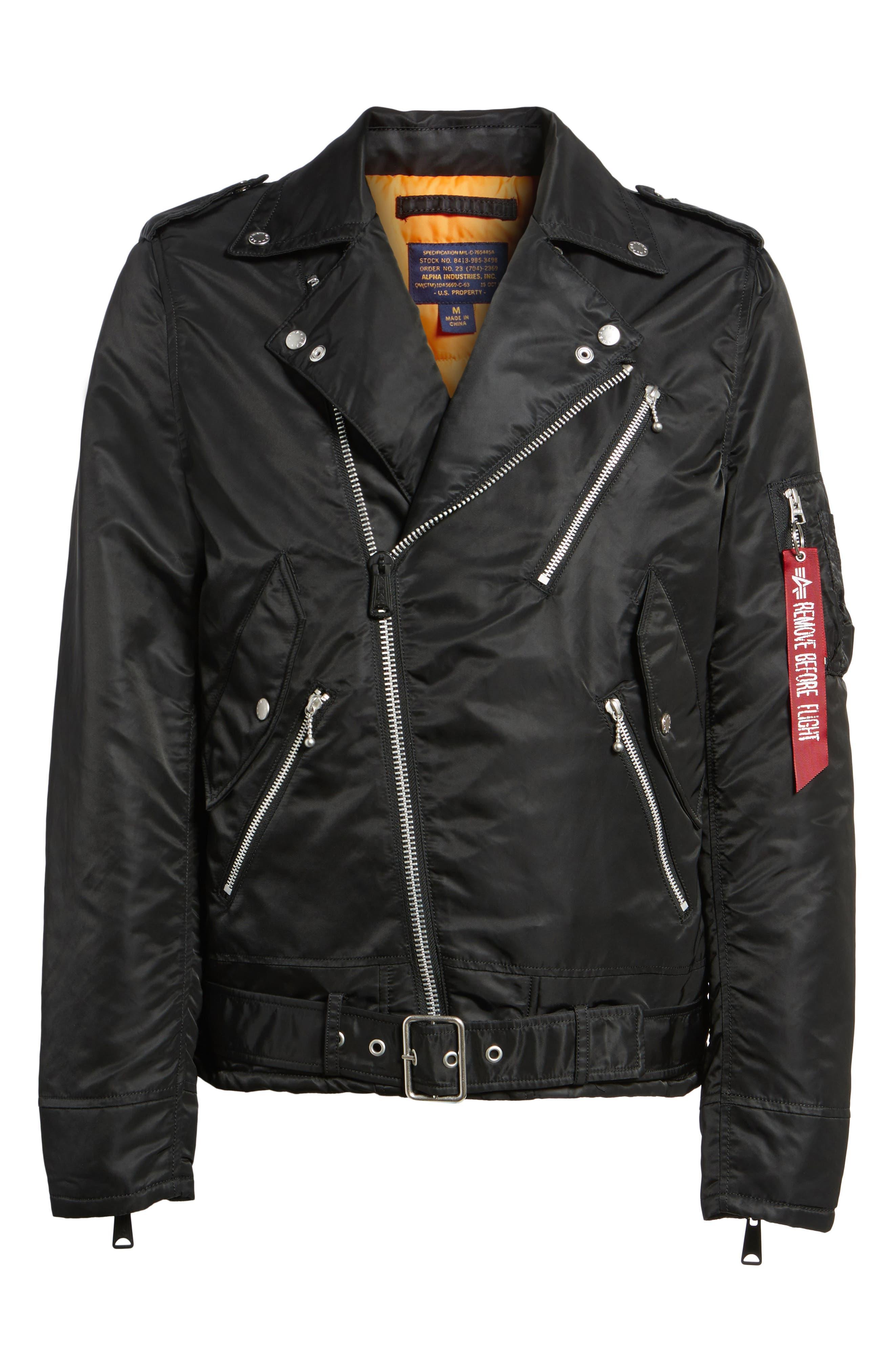 Outlaw Biker Jacket,                             Alternate thumbnail 5, color,                             001