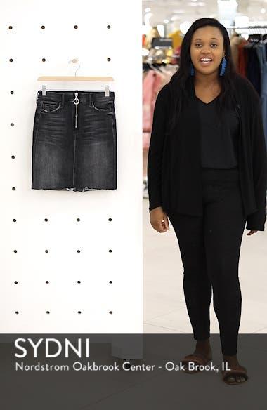 Swooner Exposed Zip Denim Miniskirt, sales video thumbnail