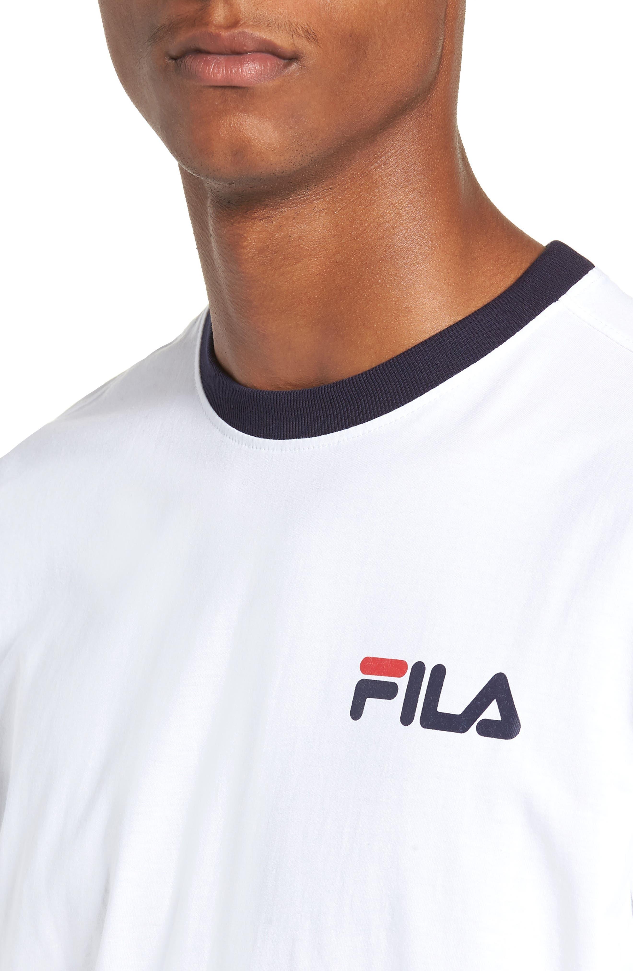 Roscoe Ringer T-Shirt,                             Alternate thumbnail 4, color,                             WHITE/ PEACOAT