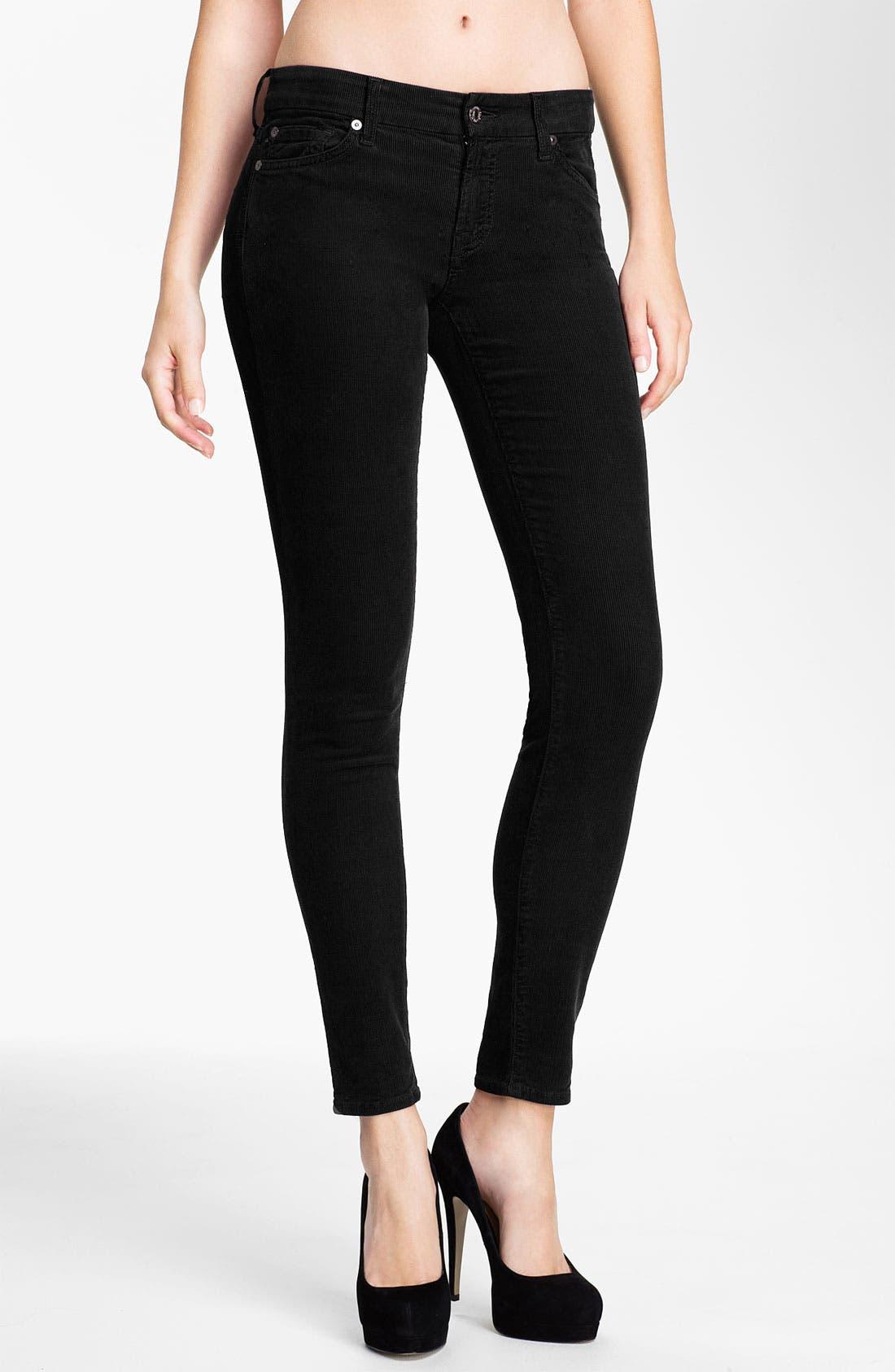 Skinny Corduroy Pants,                             Main thumbnail 1, color,                             001
