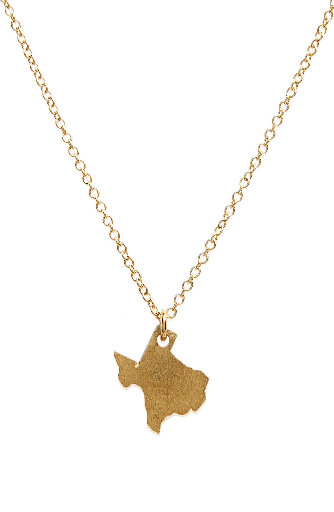 I Heart Texas Pendant Necklace,                             Alternate thumbnail 8, color,