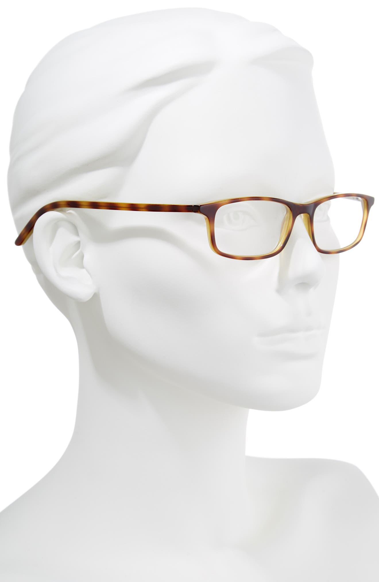 jodie 50mm reading glasses,                             Alternate thumbnail 2, color,                             HAVANA GREEN