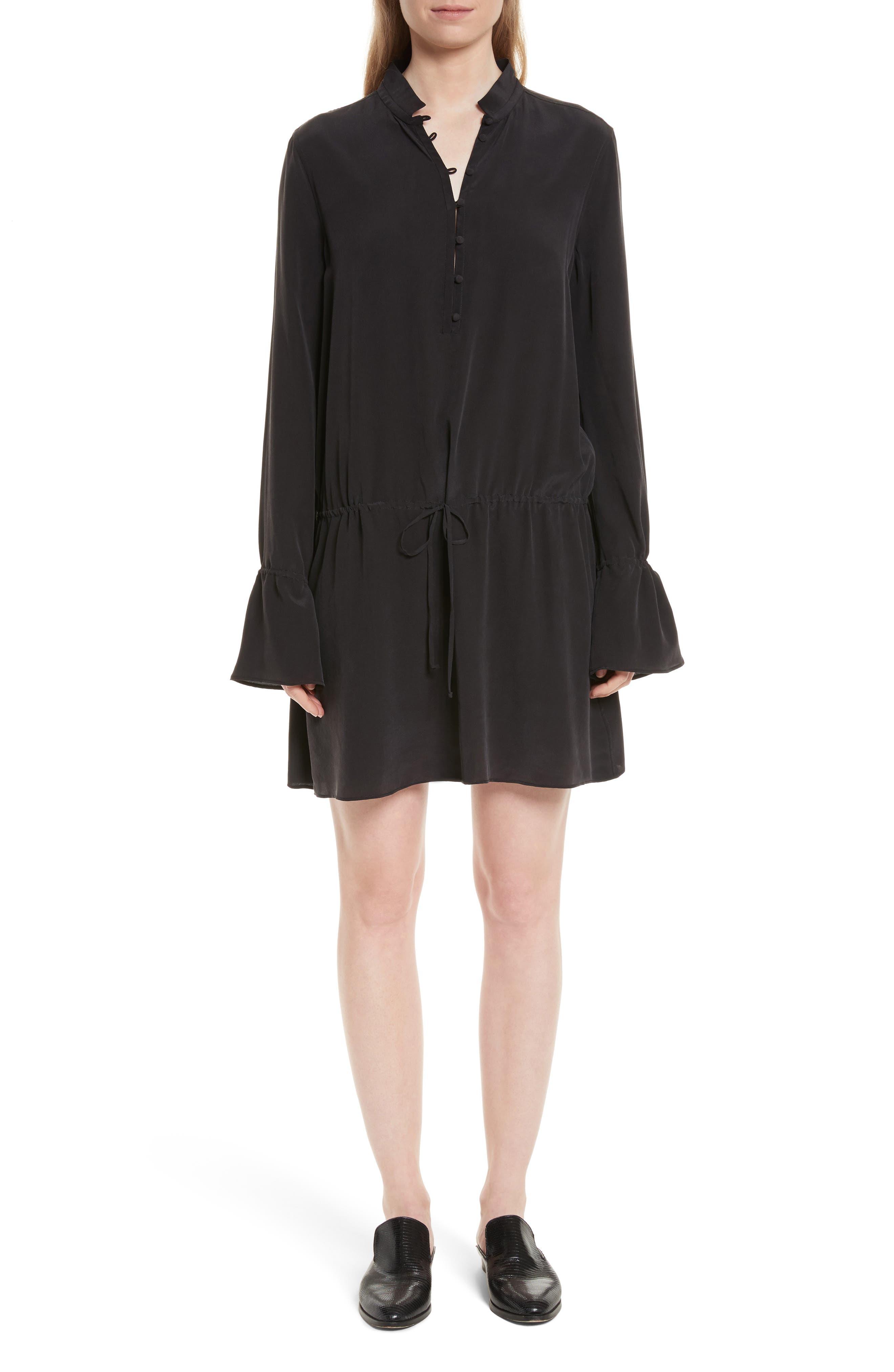Trista Silk Dress,                             Main thumbnail 1, color,