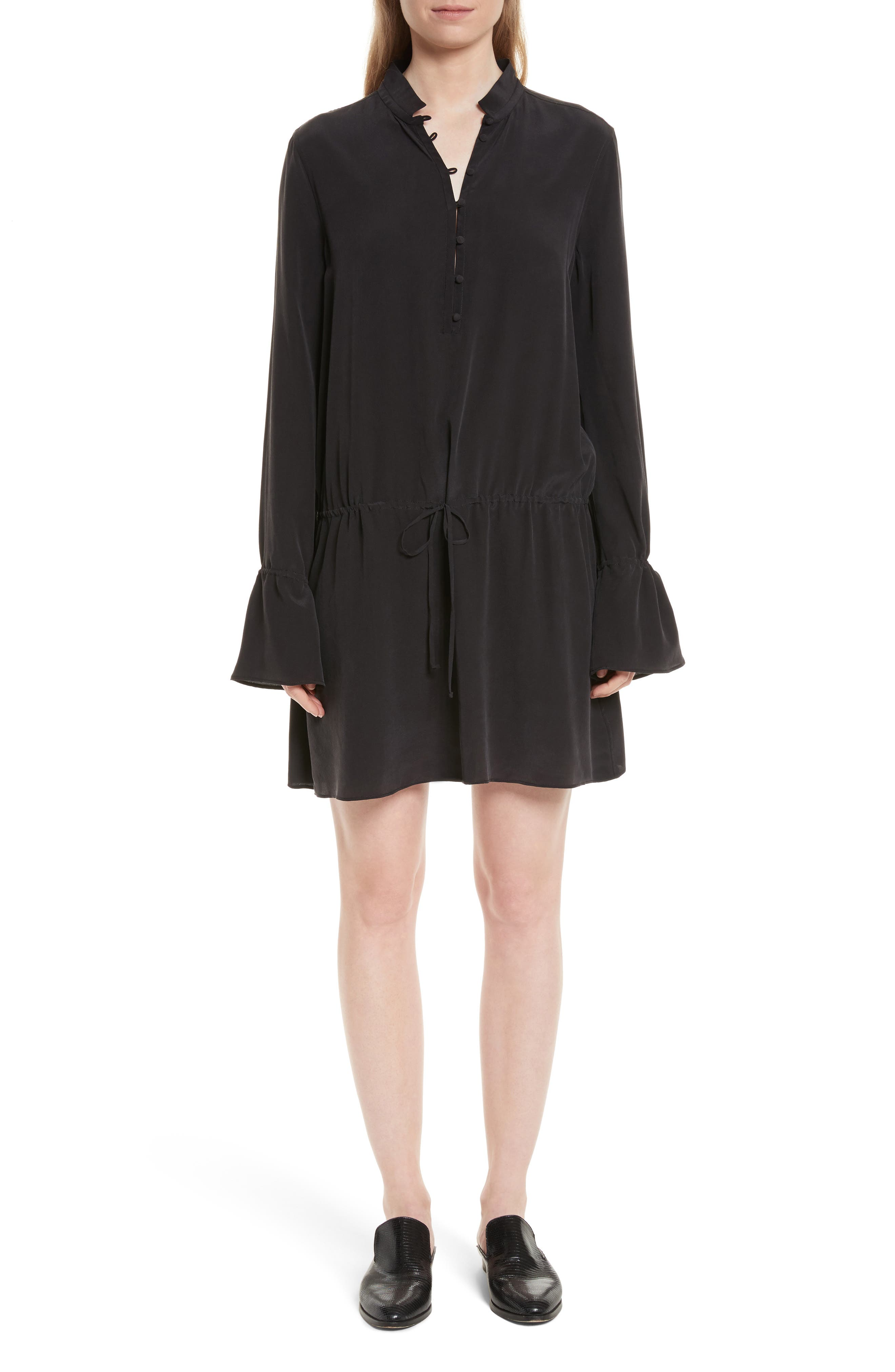 Trista Silk Dress,                         Main,                         color, 003