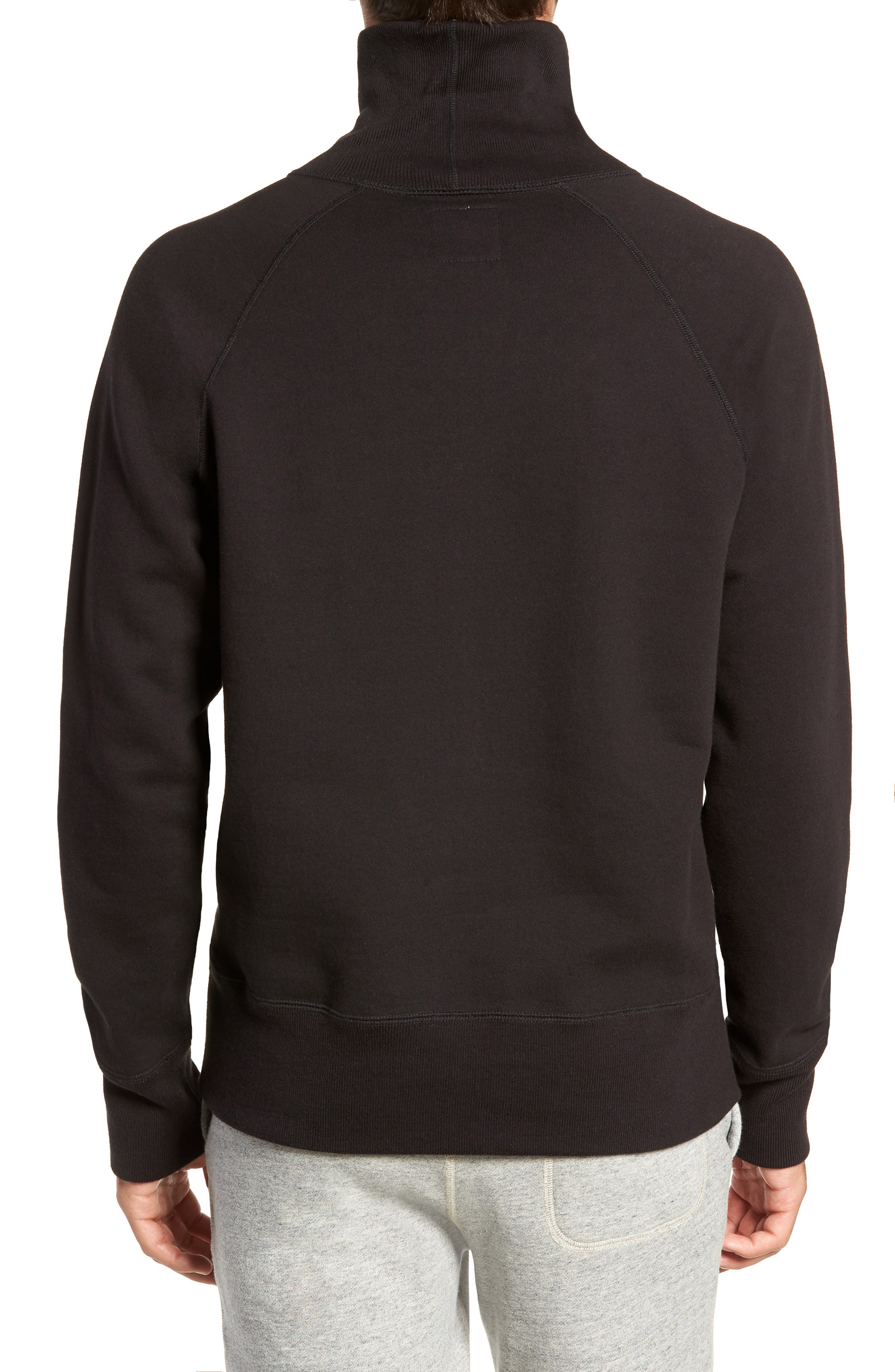 + Champion Turtleneck Sweatshirt,                             Alternate thumbnail 2, color,                             001