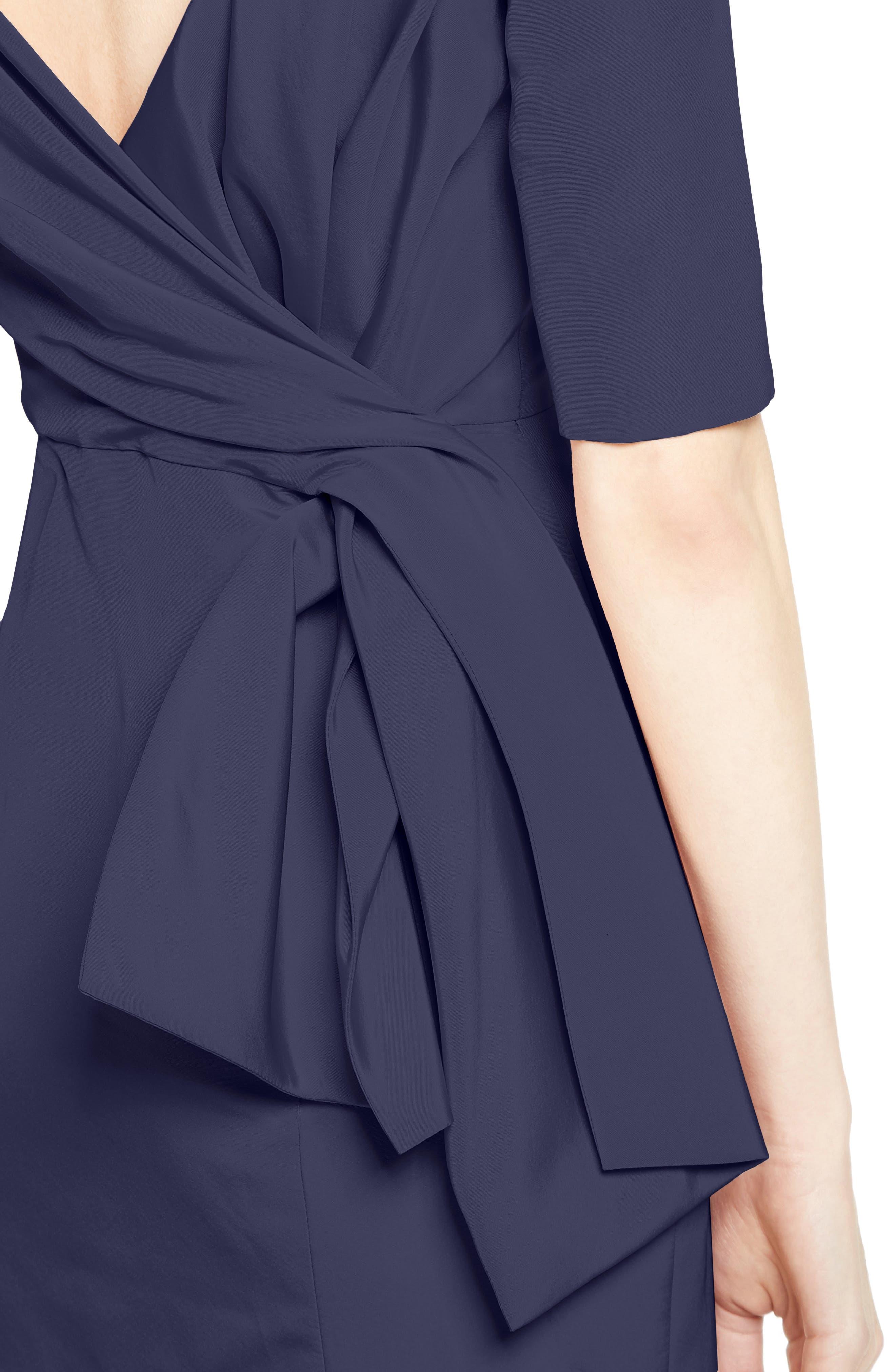 Draped V-Back Gown,                             Alternate thumbnail 4, color,                             410