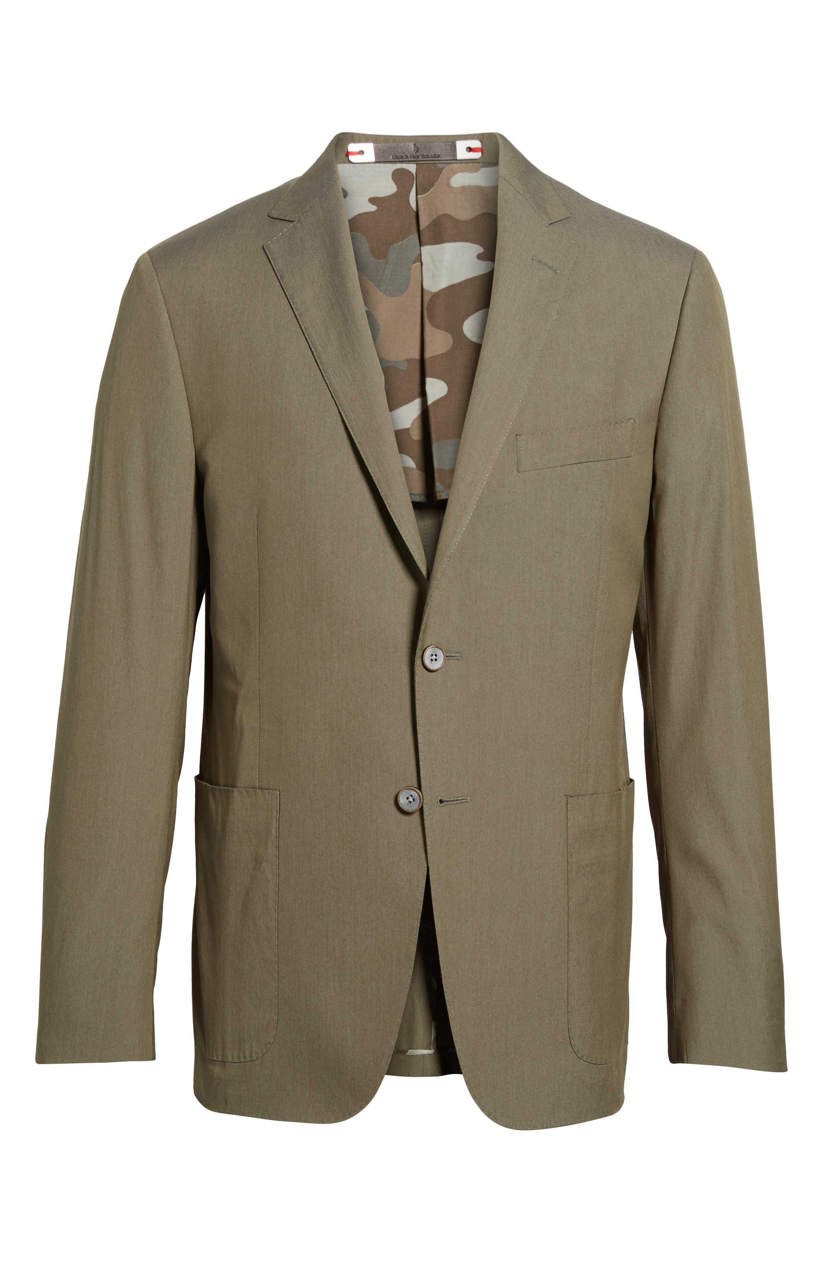 Modern Fit Stretch Cotton Blend Blazer,                             Alternate thumbnail 5, color,                             300