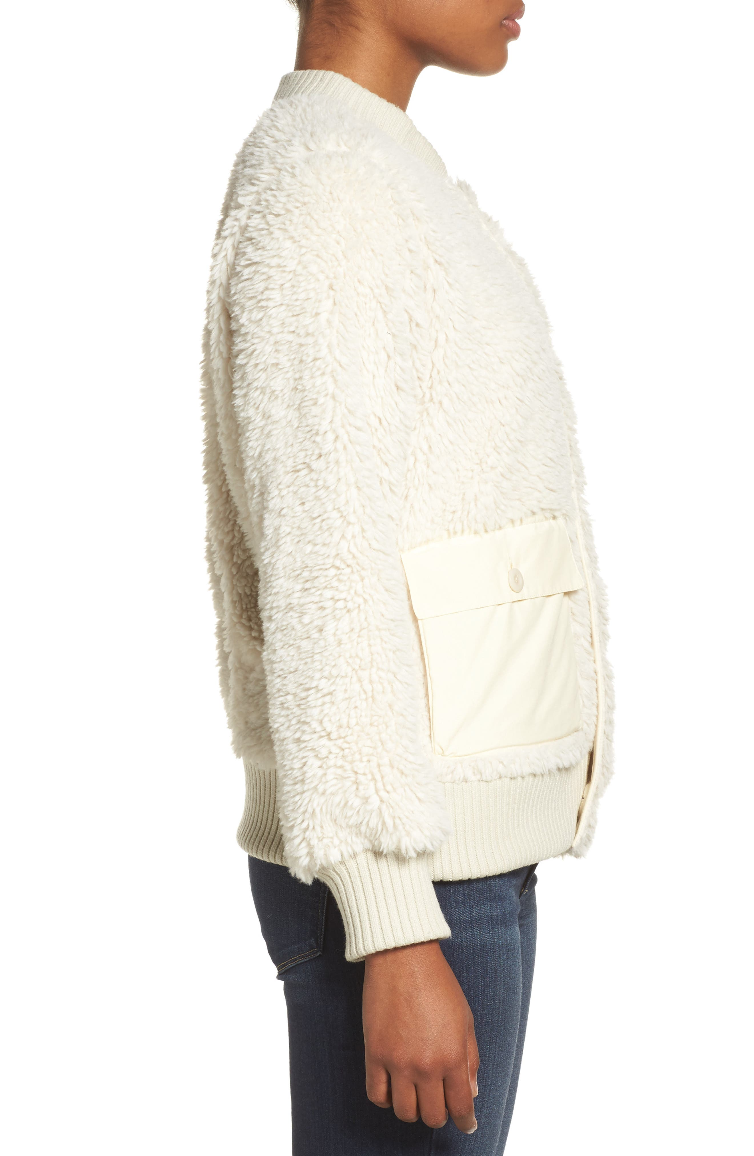 Shawmut High Pile DRYRIDE Thermex Fleece Jacket,                             Alternate thumbnail 3, color,                             100