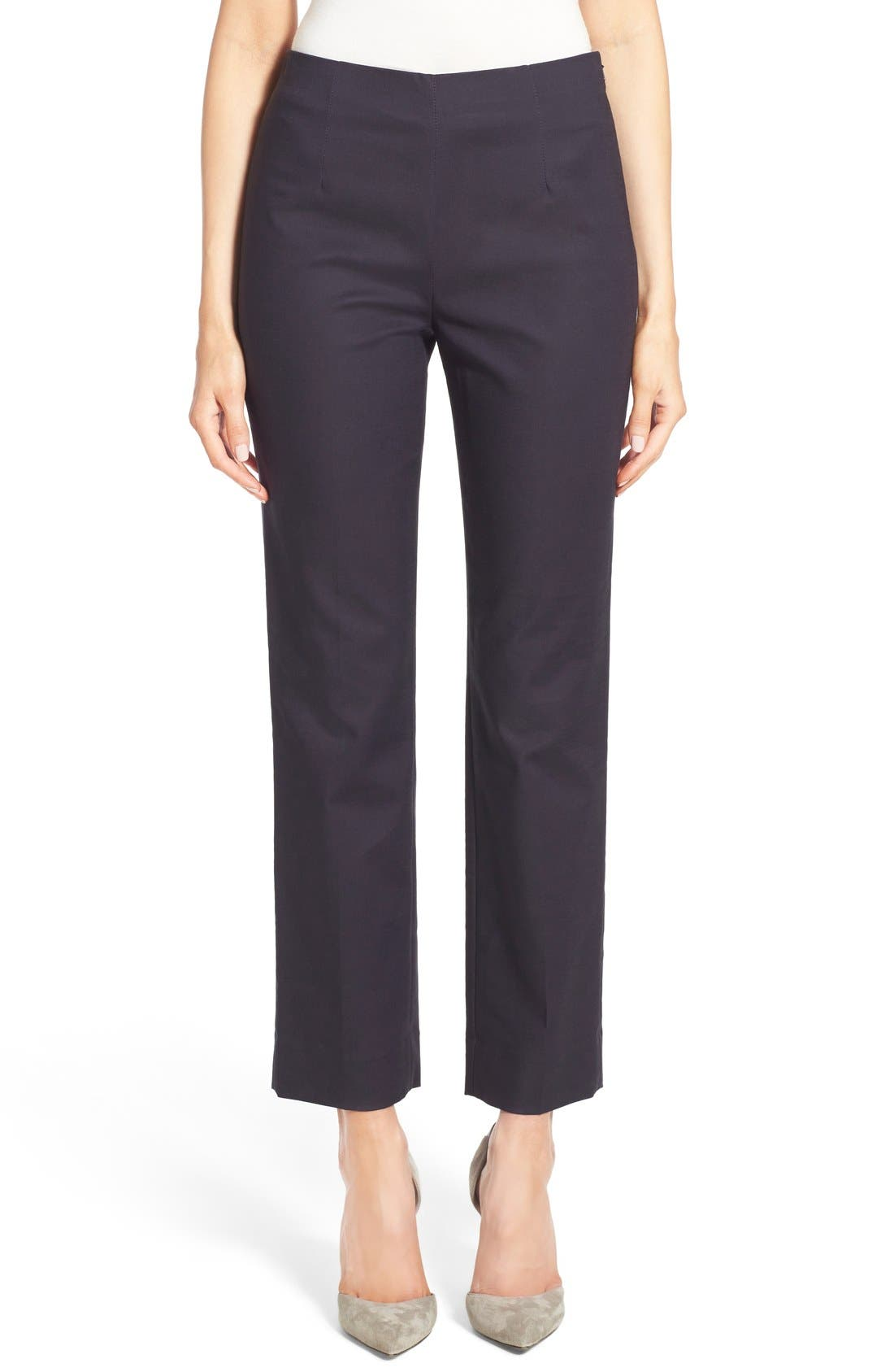 'Perfect' Side Zip Ankle Pants,                             Main thumbnail 1, color,                             MIDNIGHT