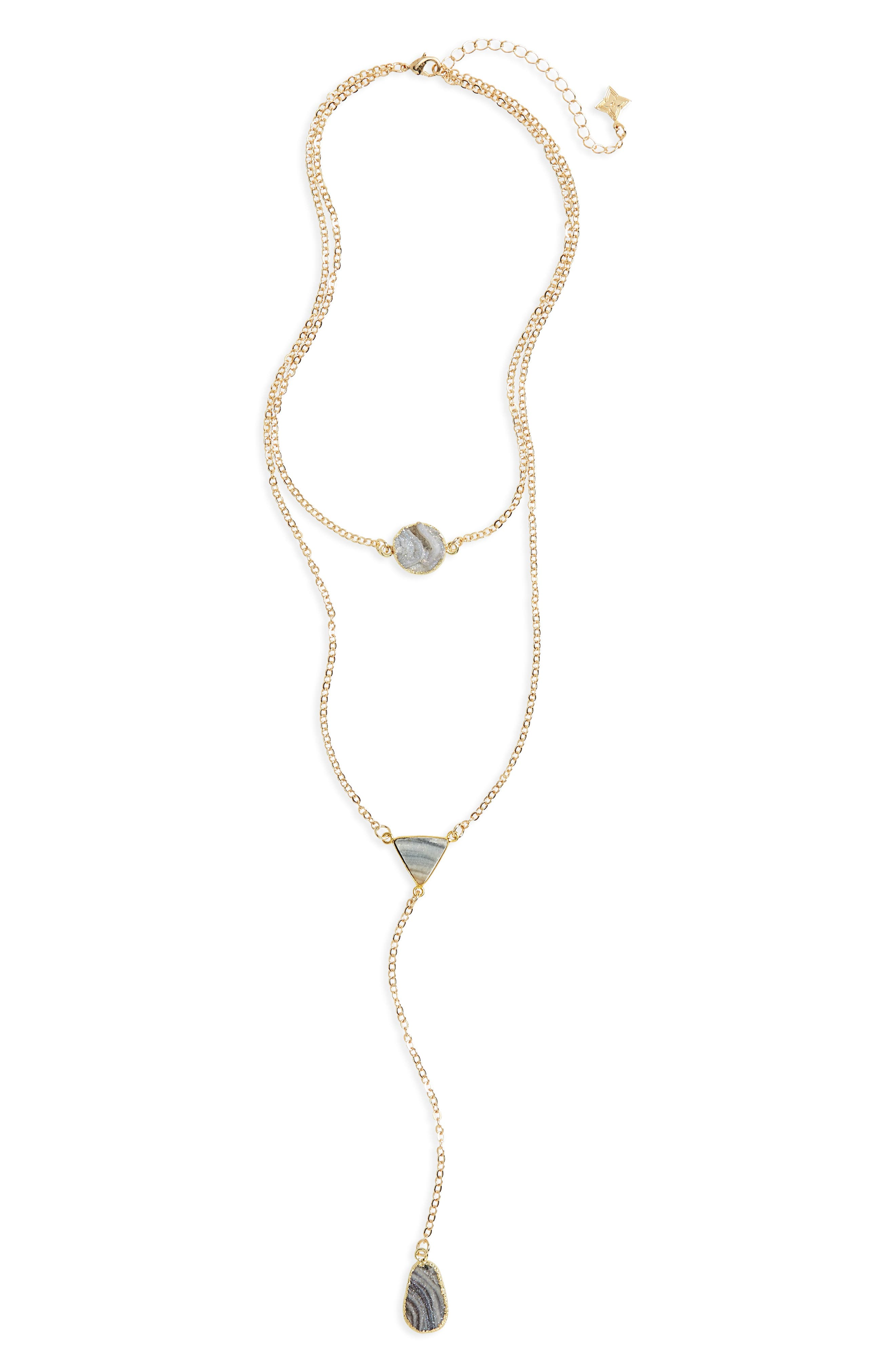Sunstone Multistrand Necklace,                         Main,                         color,
