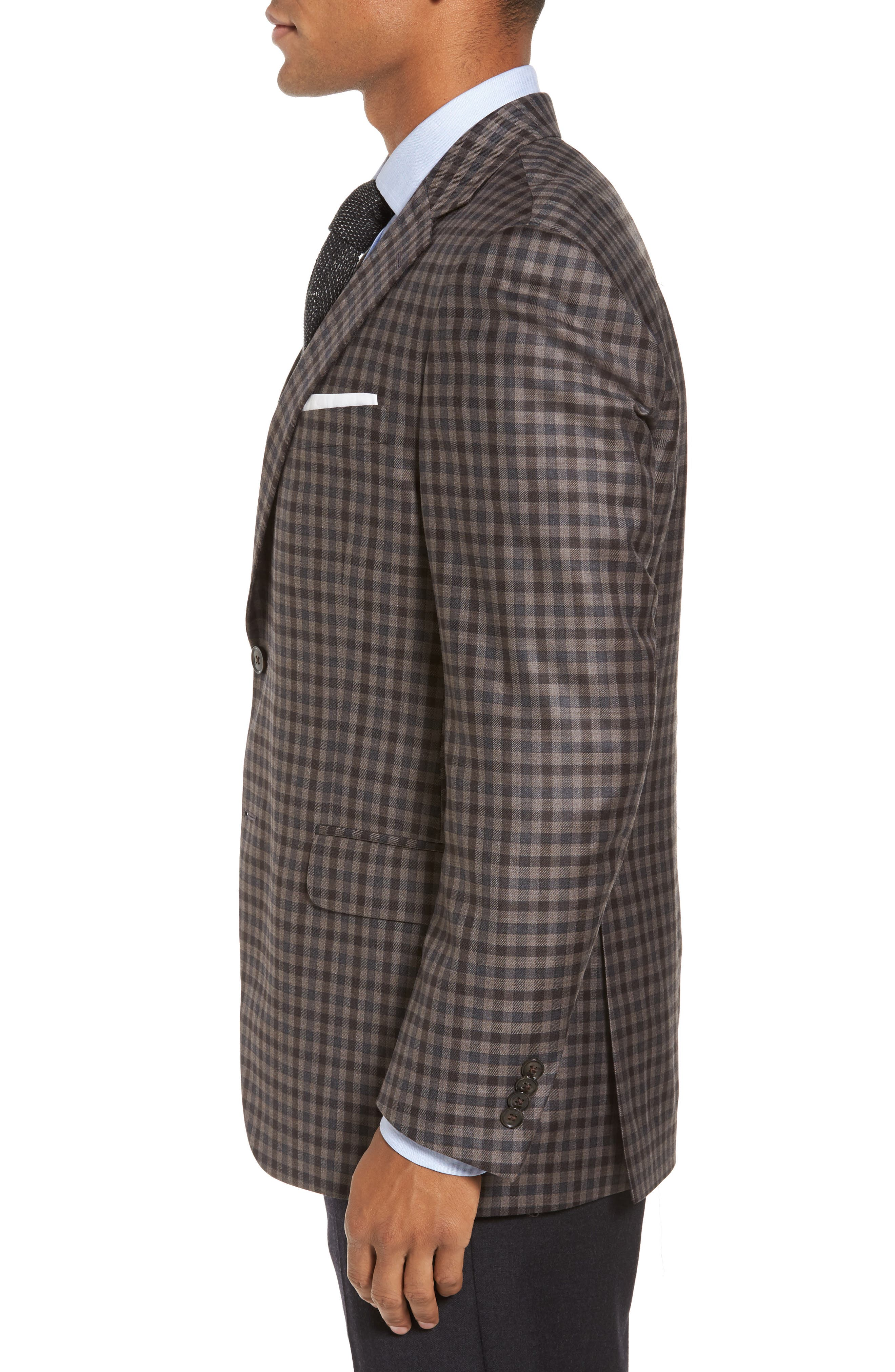 Flynn Classic Fit Check Wool Sport Coat,                             Alternate thumbnail 3, color,                             200