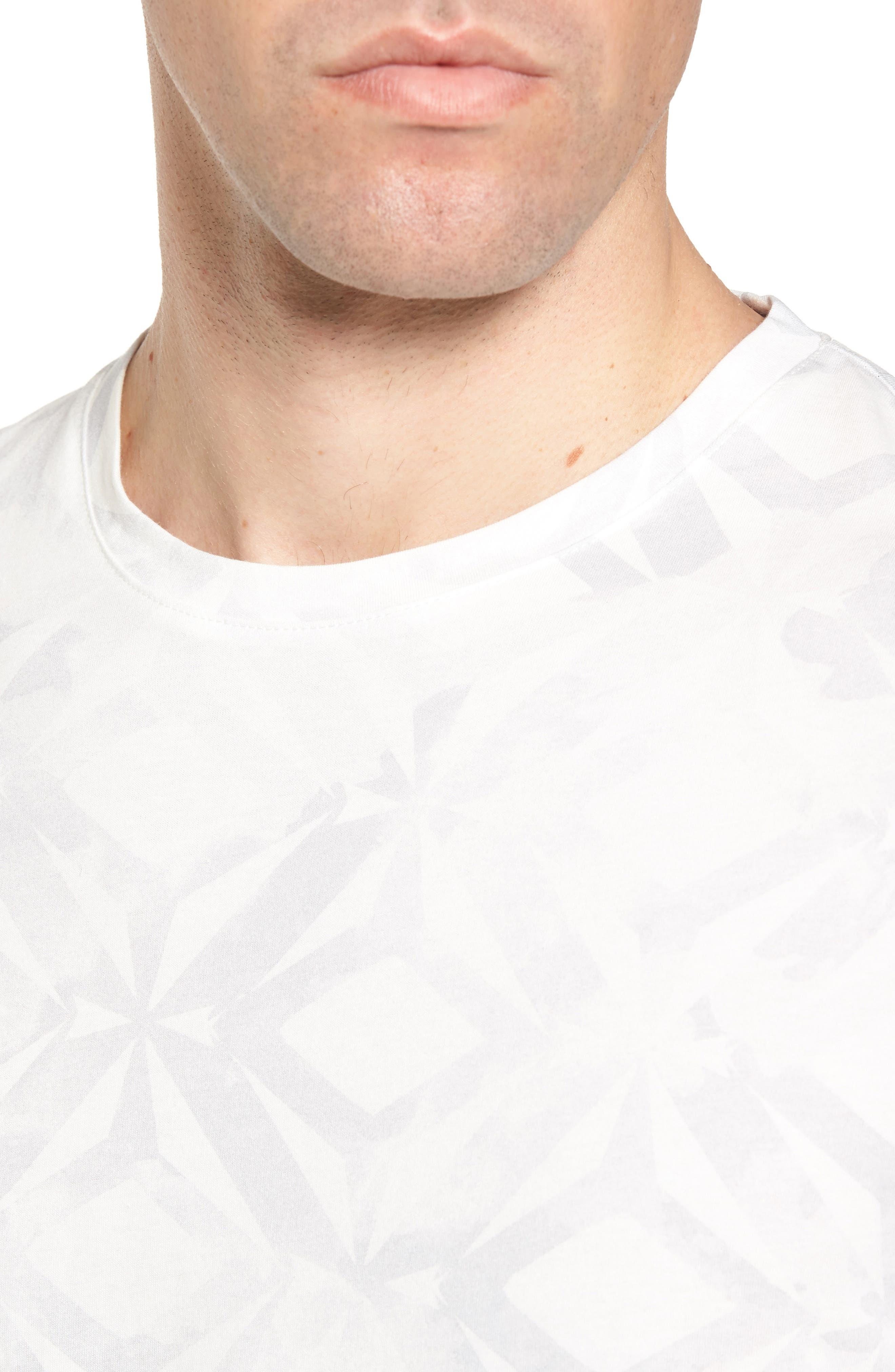 Woof Batik Print T-Shirt,                             Alternate thumbnail 4, color,                             110