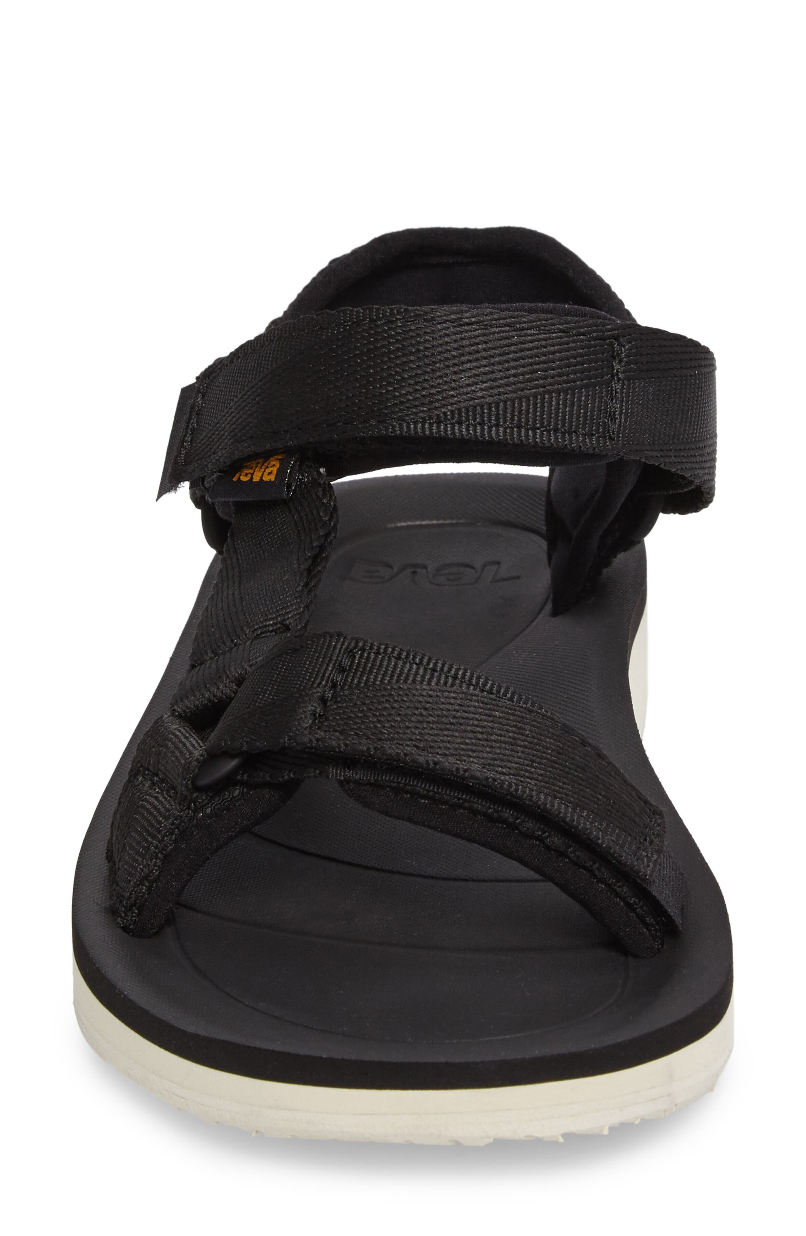 Original Universal Premier Sandal,                             Alternate thumbnail 4, color,                             BLACK FABRIC