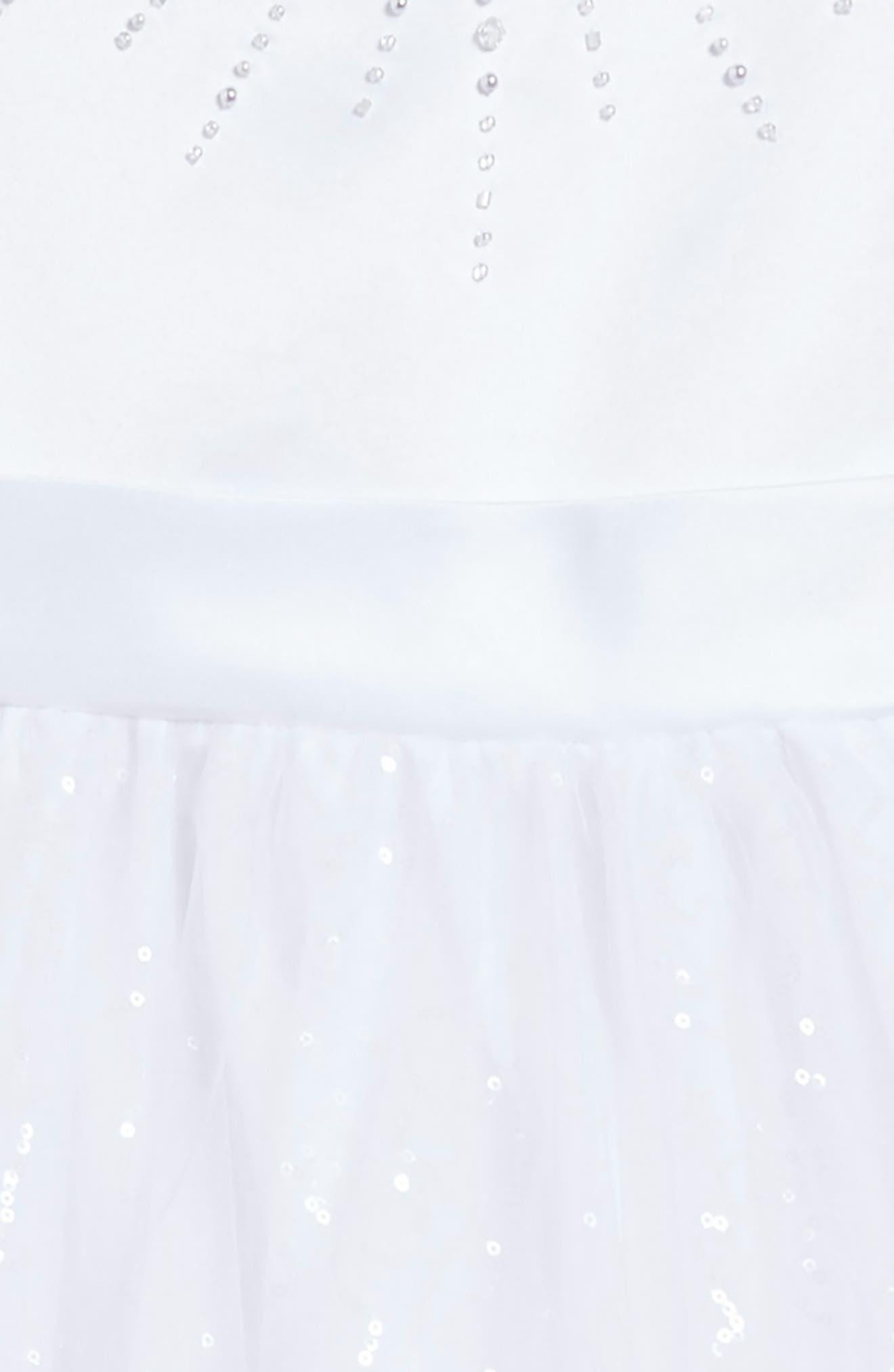 Beaded First Communion Dress,                             Alternate thumbnail 3, color,                             100