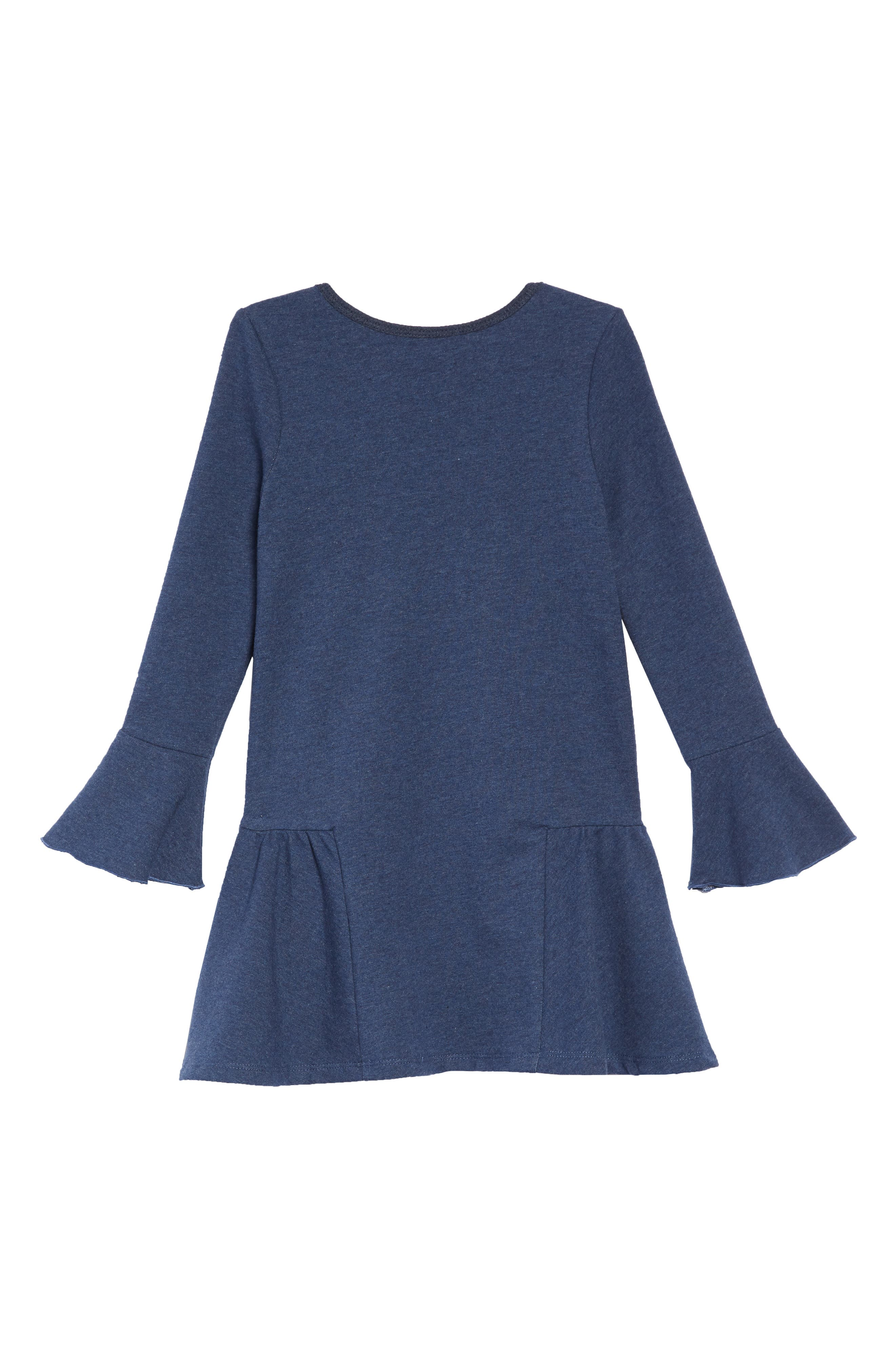 Cool Stuff Knit Dress with Zip Pouch,                             Alternate thumbnail 3, color,                             NAVY
