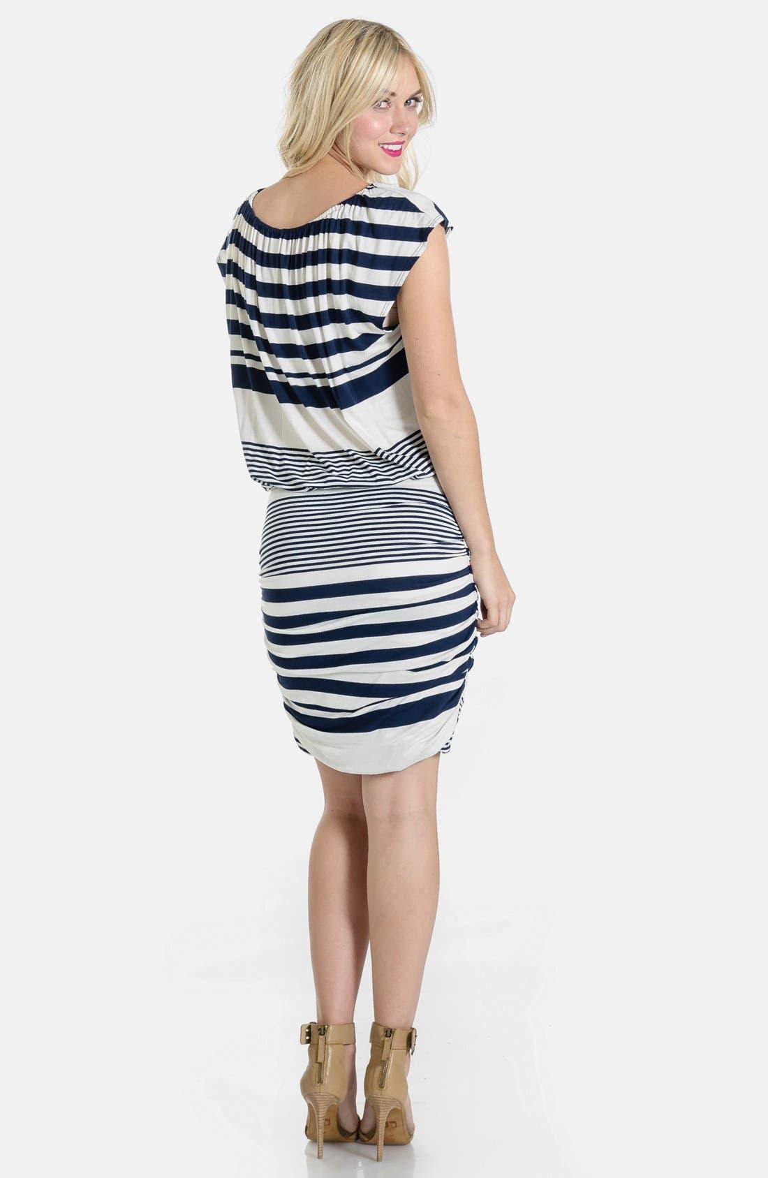 LILAC CLOTHING,                             'Mila' Maternity Dress,                             Alternate thumbnail 5, color,                             410