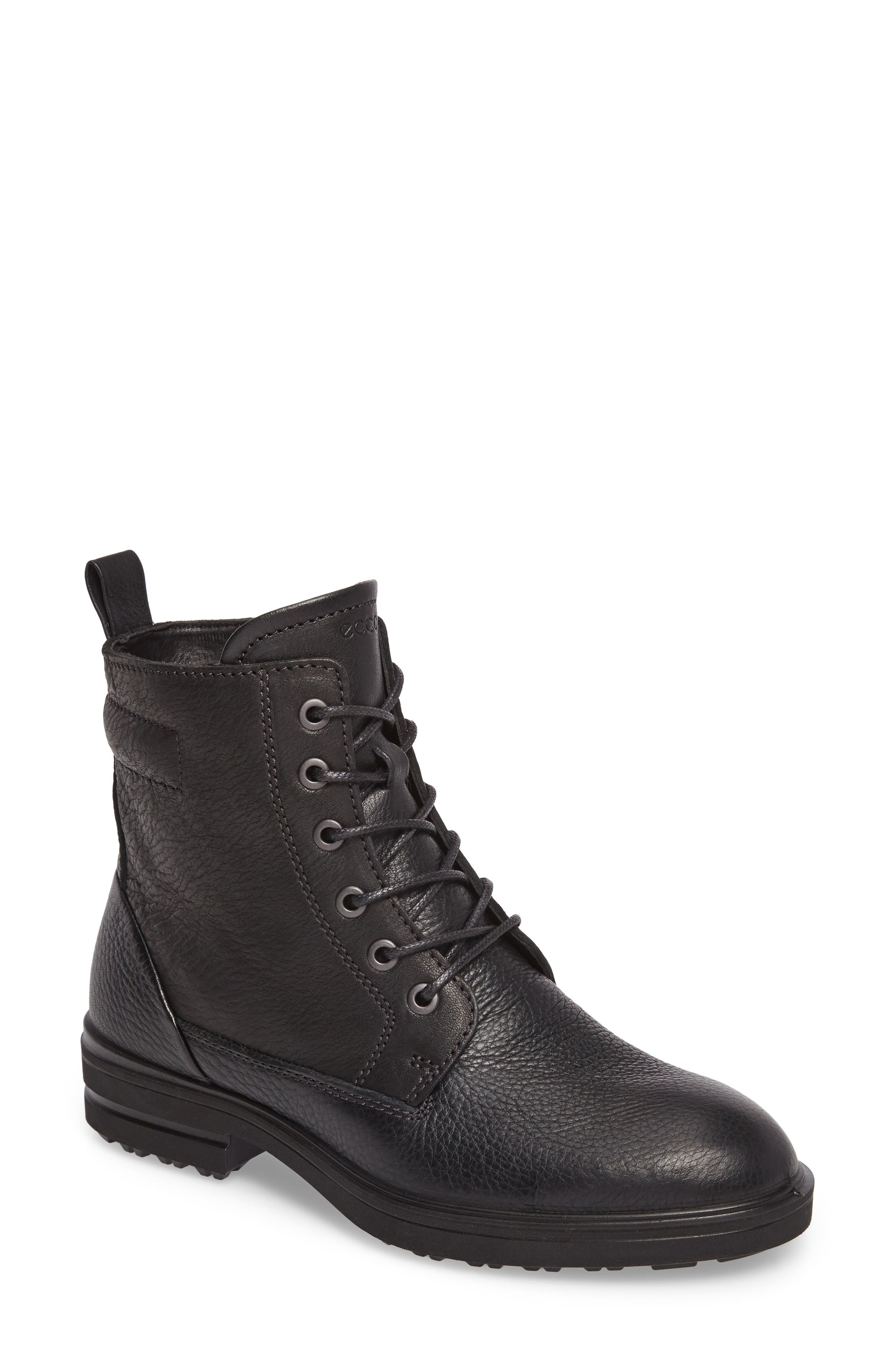 Zoe Lace-Up Boot,                             Main thumbnail 1, color,                             001