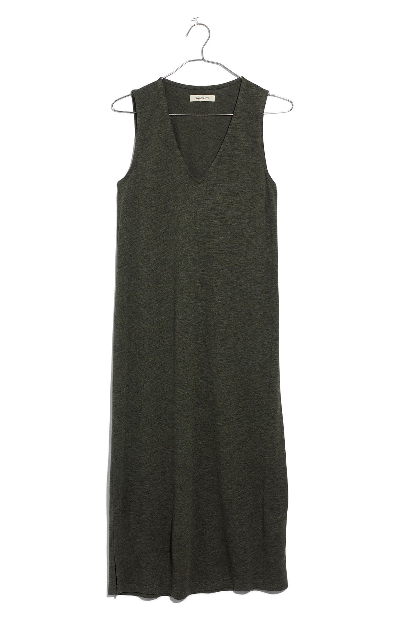 V-Neck Jersey Tank Dress,                             Alternate thumbnail 4, color,                             300