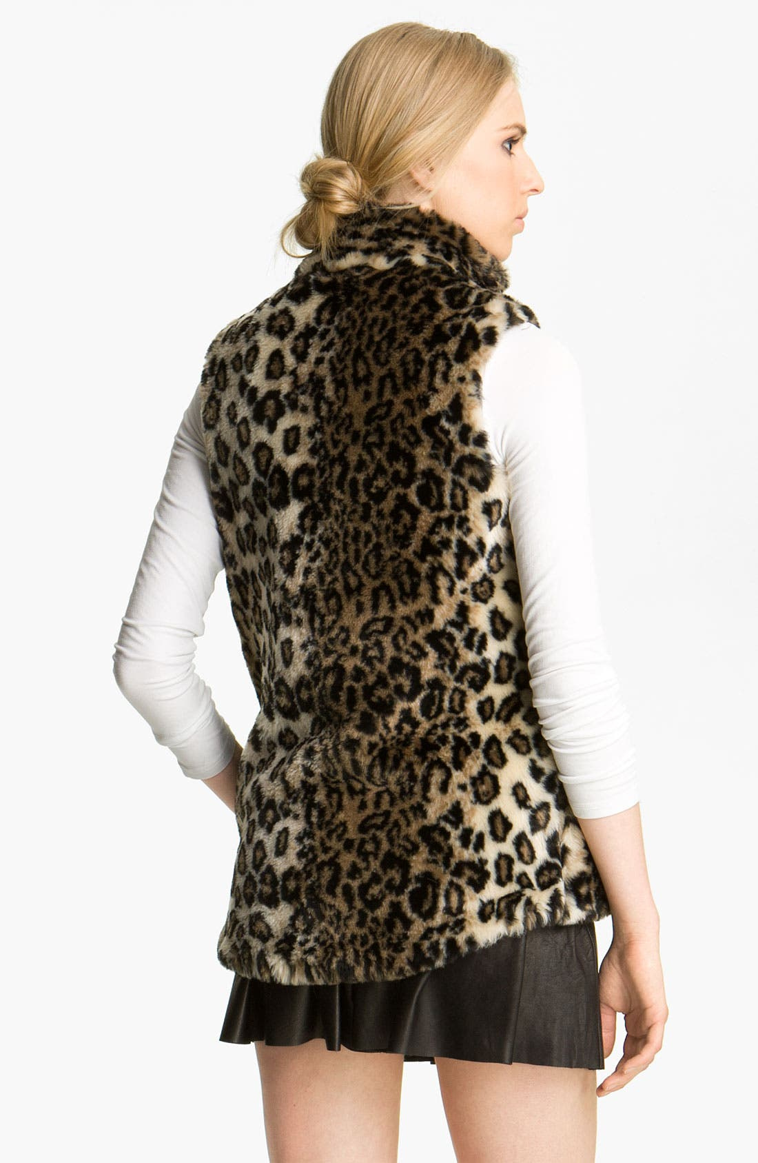 ALICE + OLIVIA,                             'Ettie' Faux Fur Vest,                             Alternate thumbnail 2, color,                             250