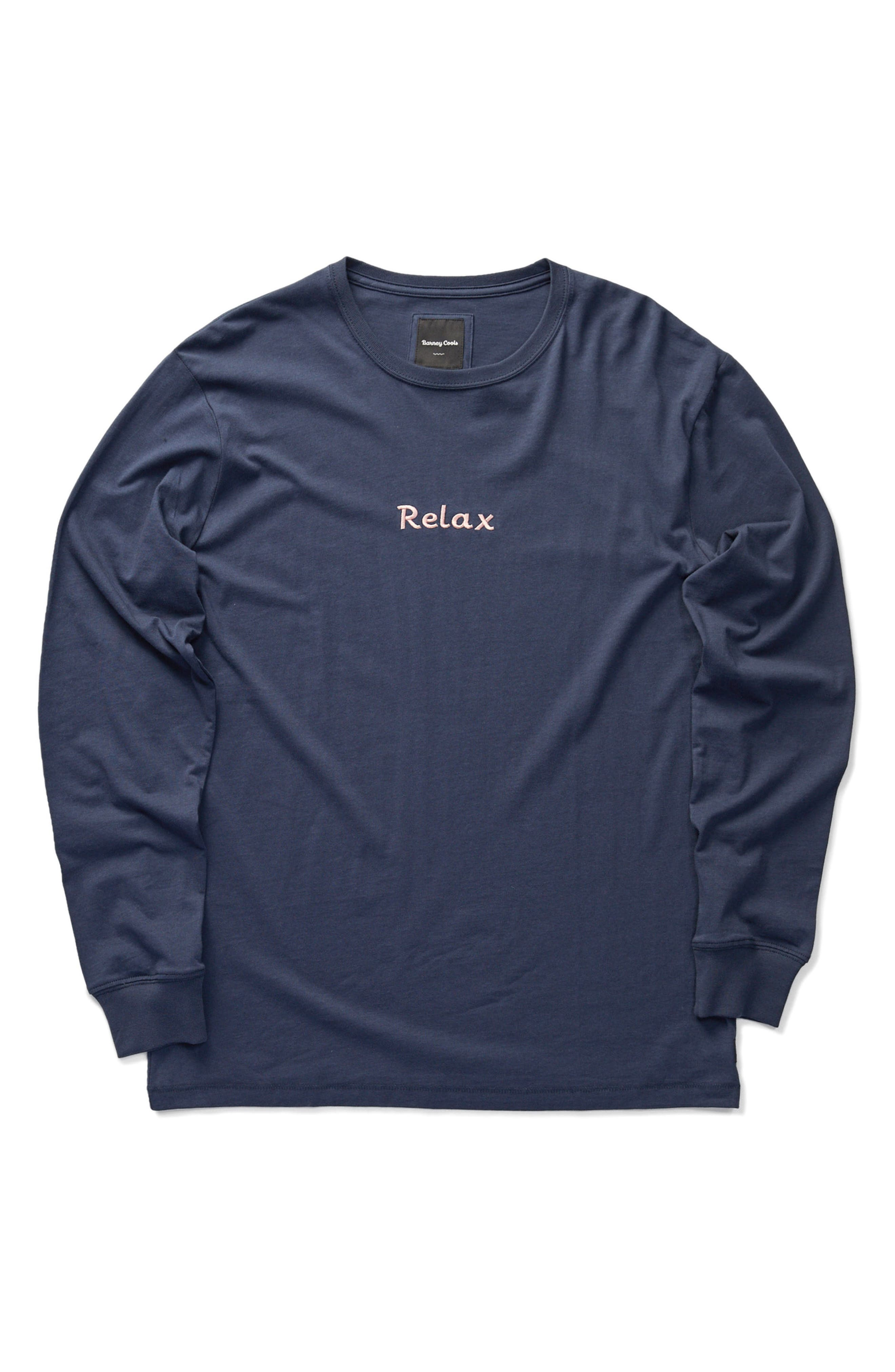 Relax Embroidered Long Sleeve T-Shirt,                             Alternate thumbnail 4, color,                             415