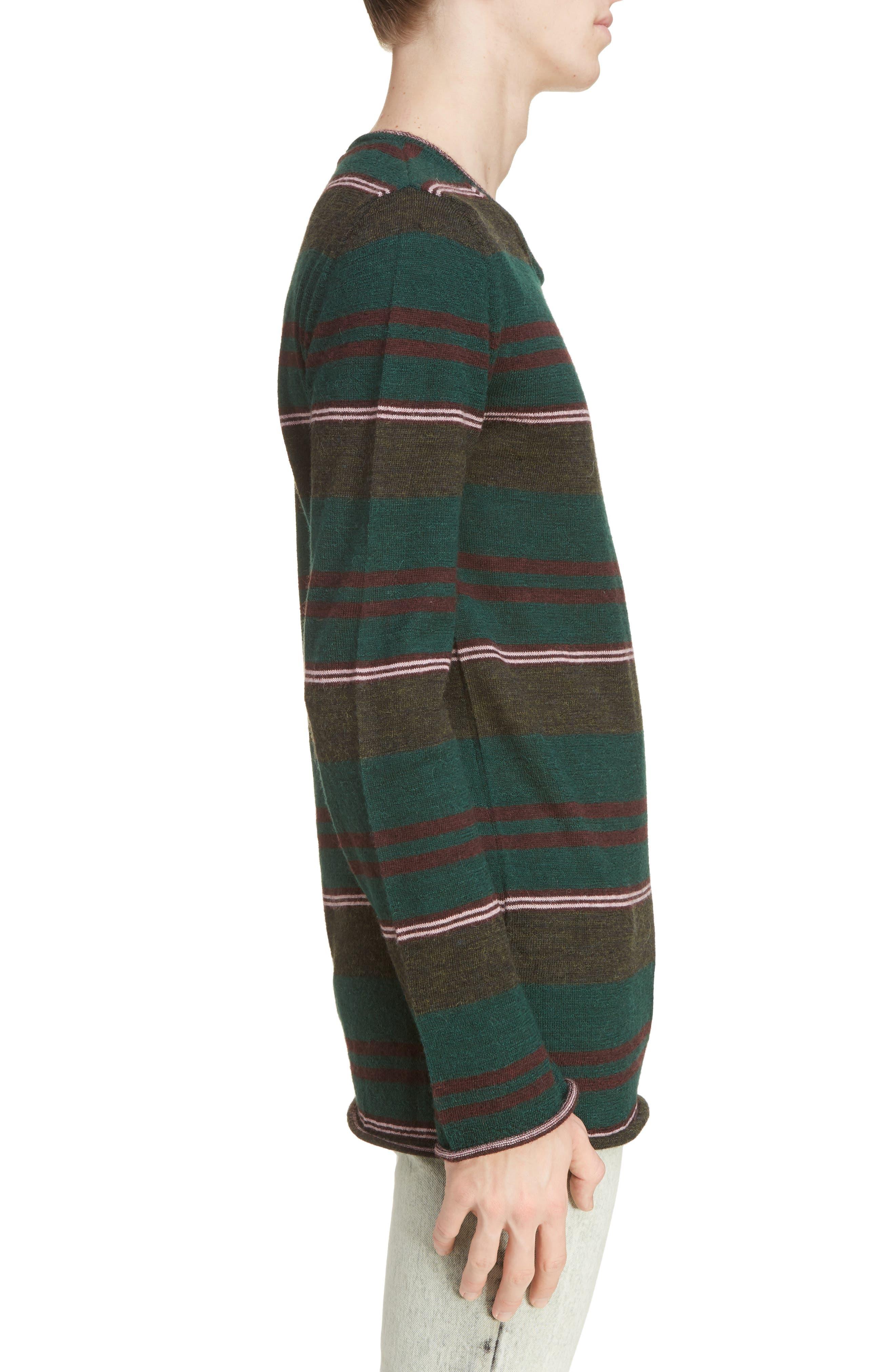Multistripe Wool Sweater,                             Alternate thumbnail 3, color,                             300