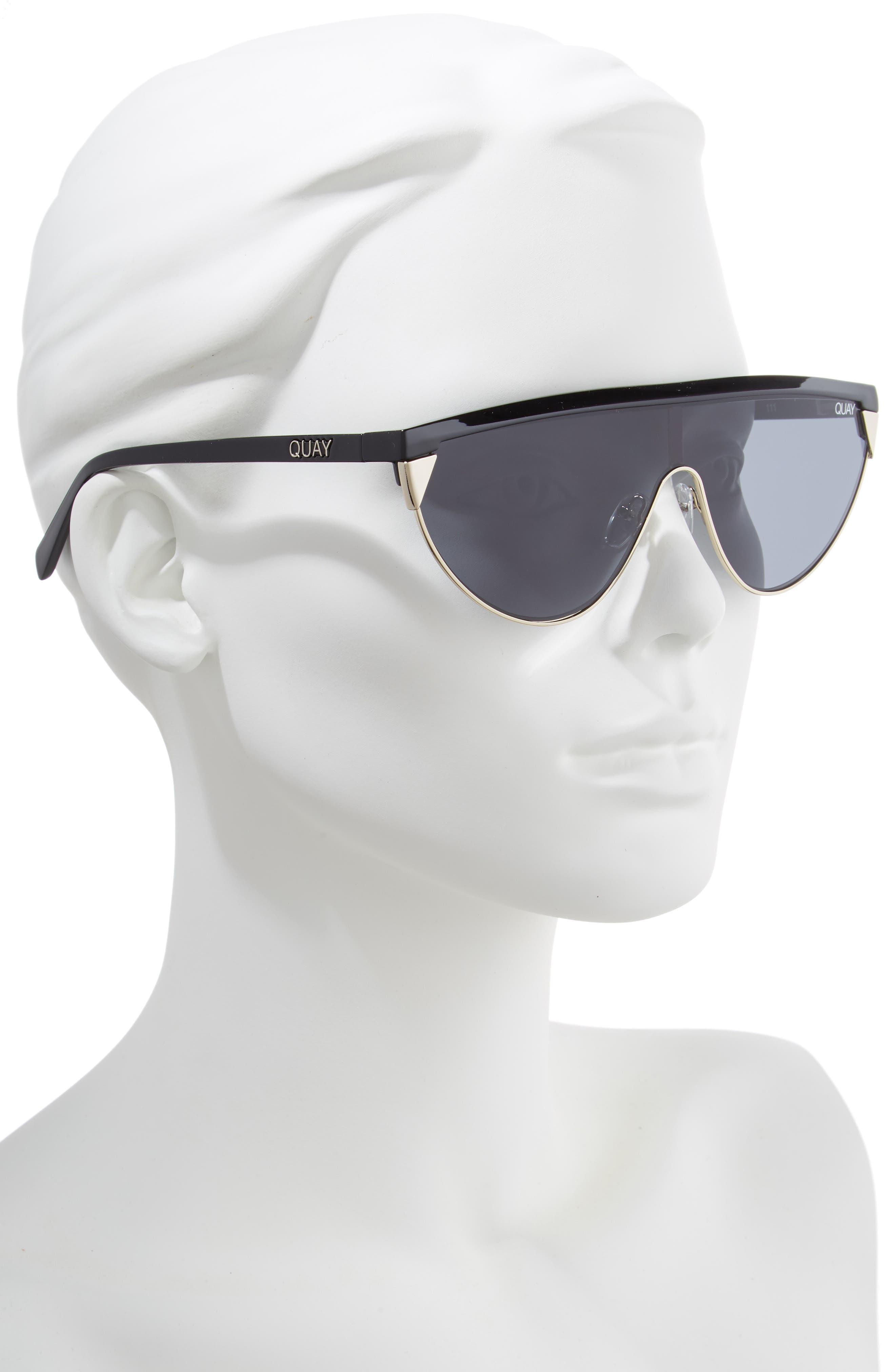 x Elle Ferguson Goldie 48mm Shield Sunglasses,                             Alternate thumbnail 2, color,                             001