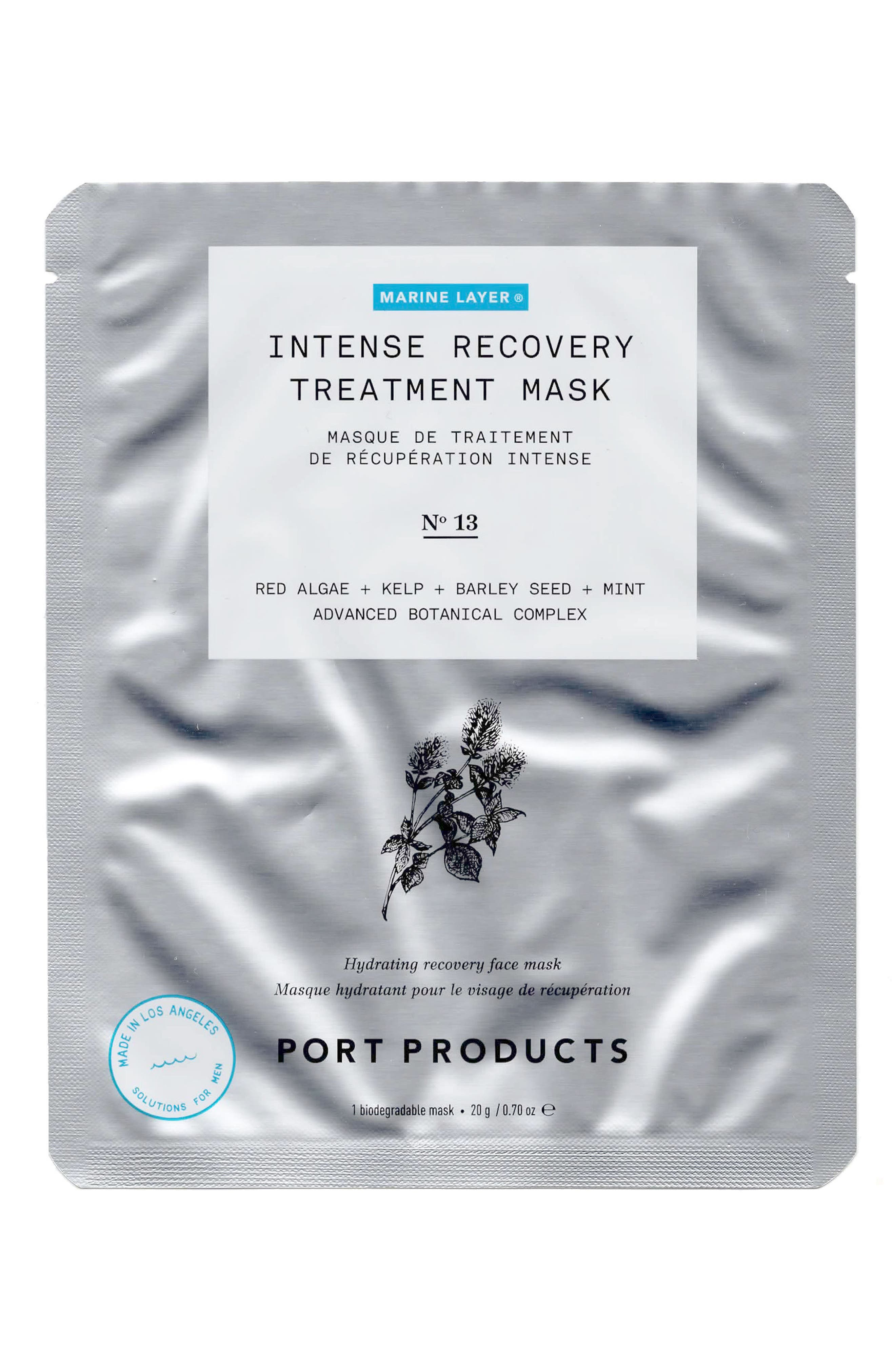 4-Pack Marine Layer Intense Recovery Treatment Mask,                             Main thumbnail 1, color,                             NO COLOR