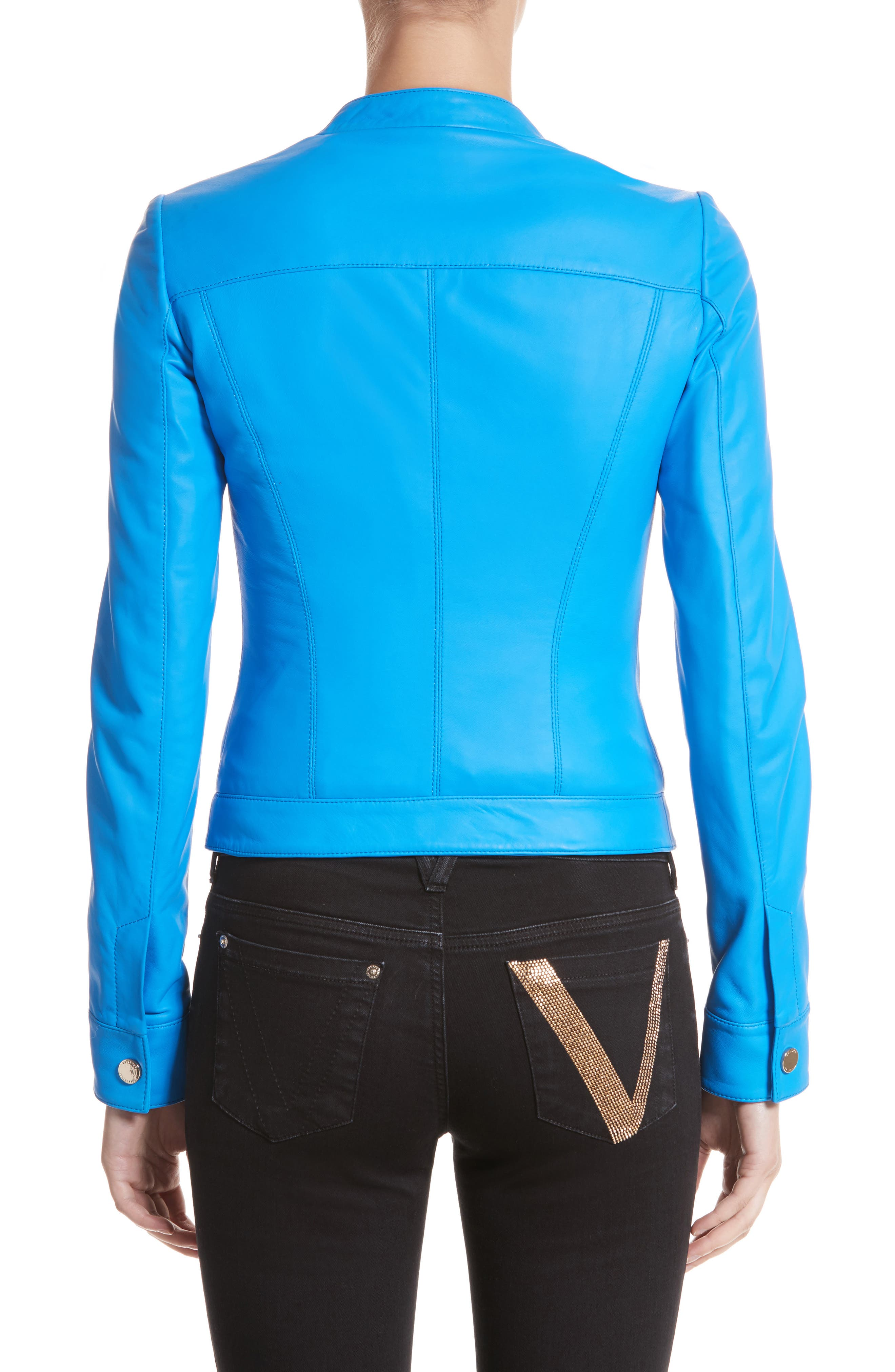 Nappa Leather Jacket,                             Alternate thumbnail 2, color,