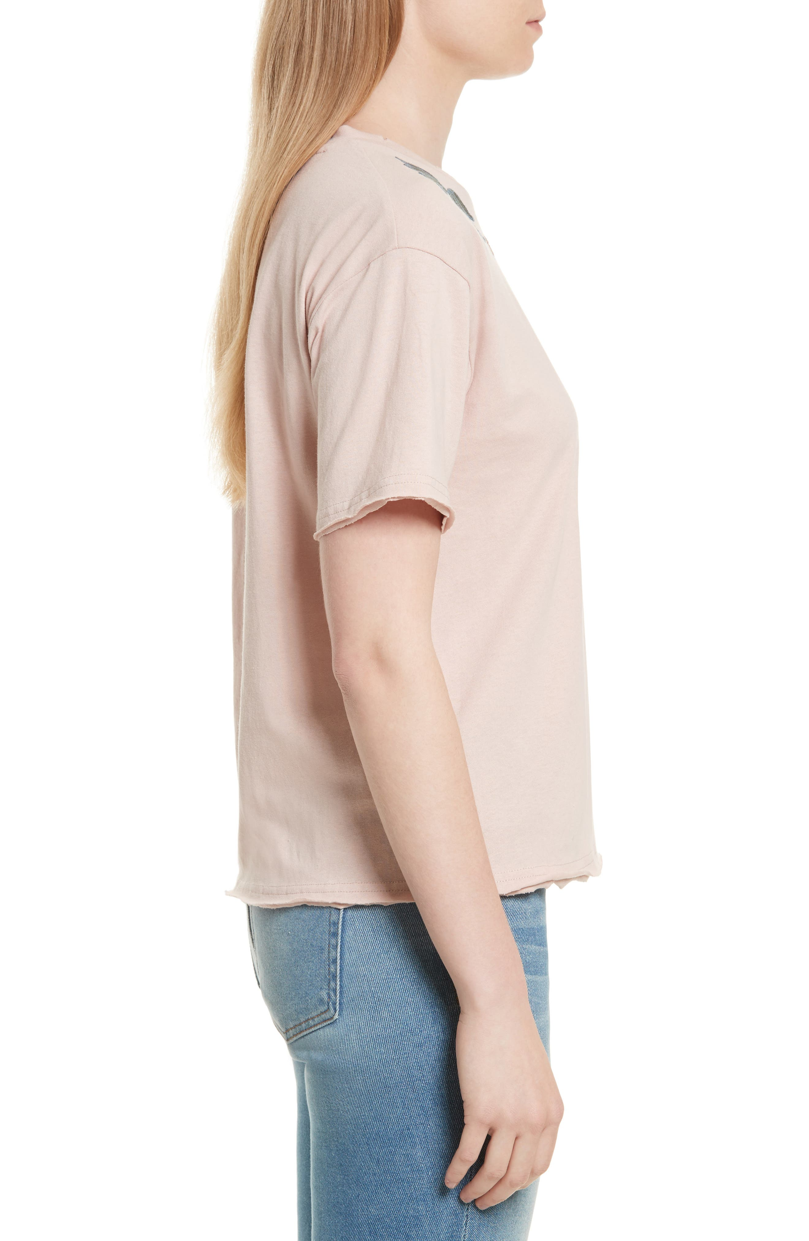 Ronnie Embroidered Tee,                             Alternate thumbnail 3, color,