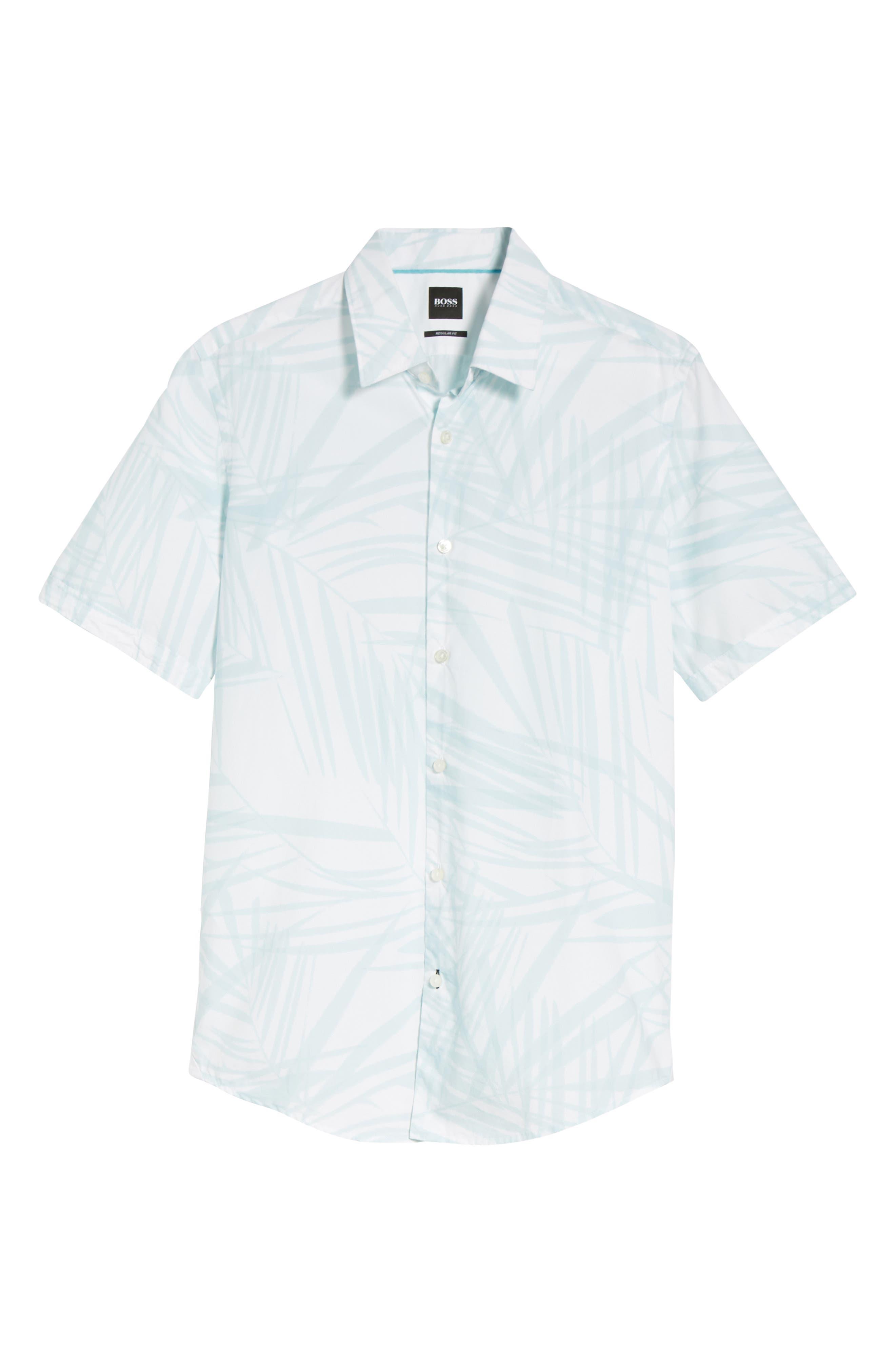 Luka Regular Fit Short Sleeve Sport Shirt,                             Alternate thumbnail 6, color,                             456